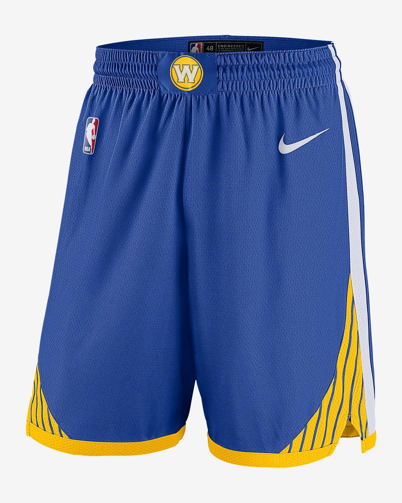 Short NBA Golden State Warriors Icon Edition Swingman Nike pour Homme