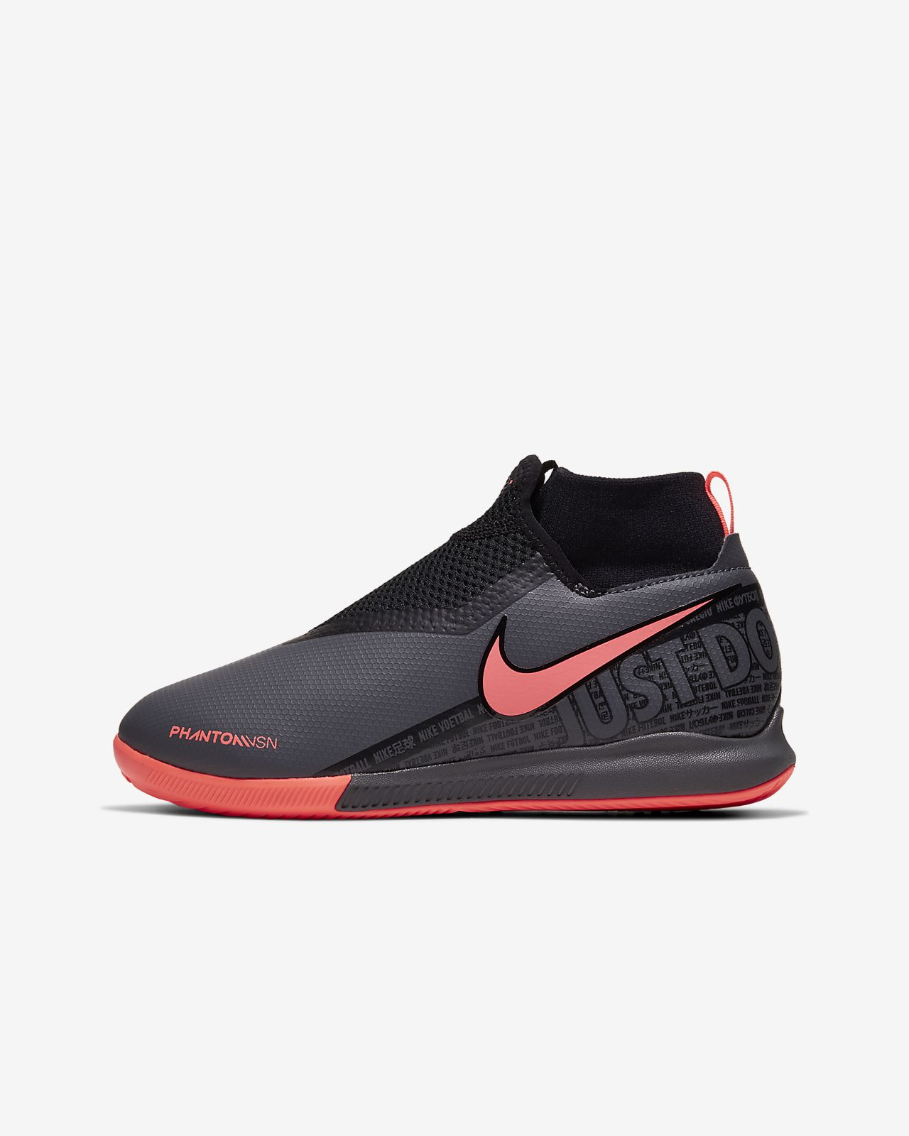 Fotbollssko för inomhusplan/futsal/street Nike Jr. Phantom Vision Academy Dynamic Fit IC för barn