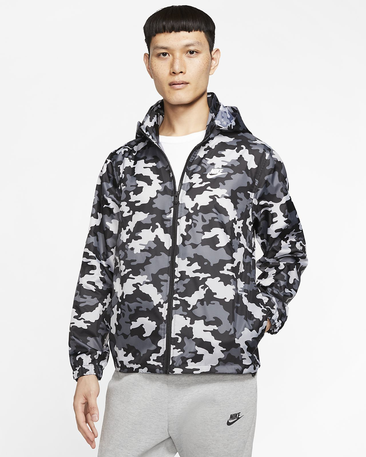 Nike Sportswear男子迷彩连帽夹克