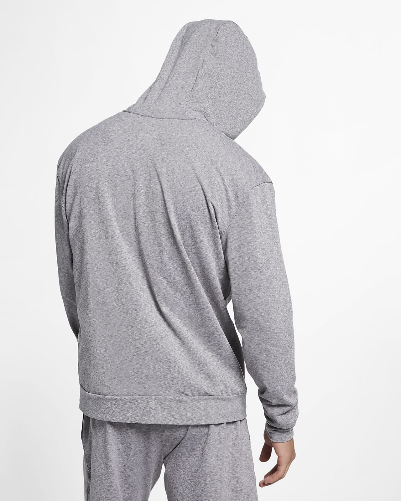 36bc2b8a846 ... Sudadera de entrenamiento de yoga con capucha y cierre completo para  hombre Nike Dri-FIT