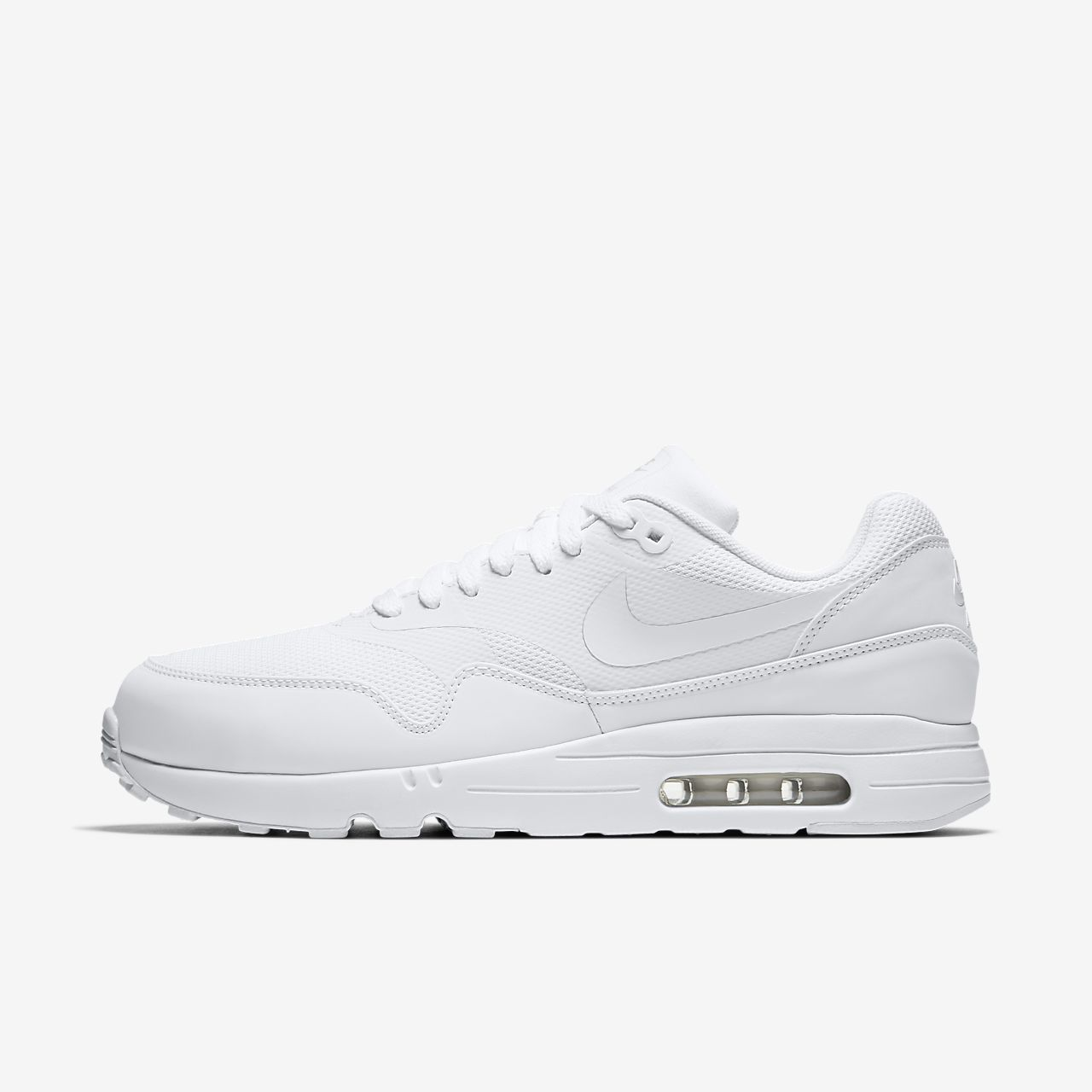nike air max 1 all white men's nike sneakers