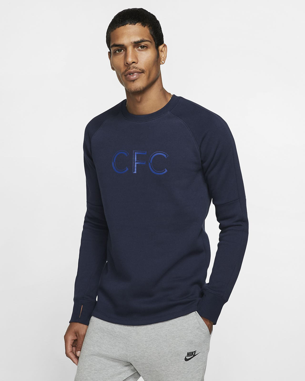 Chelsea FC Men's Fleece Crew