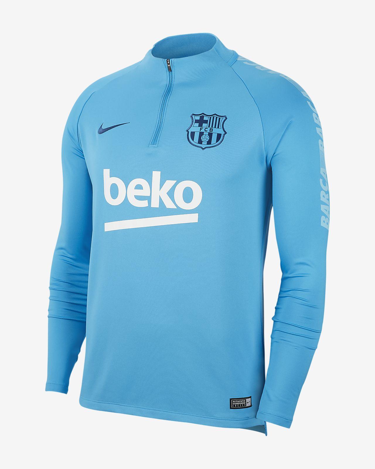 FC Barcelona Dri-FIT Squad Drill Camiseta de fútbol de manga larga - Hombre
