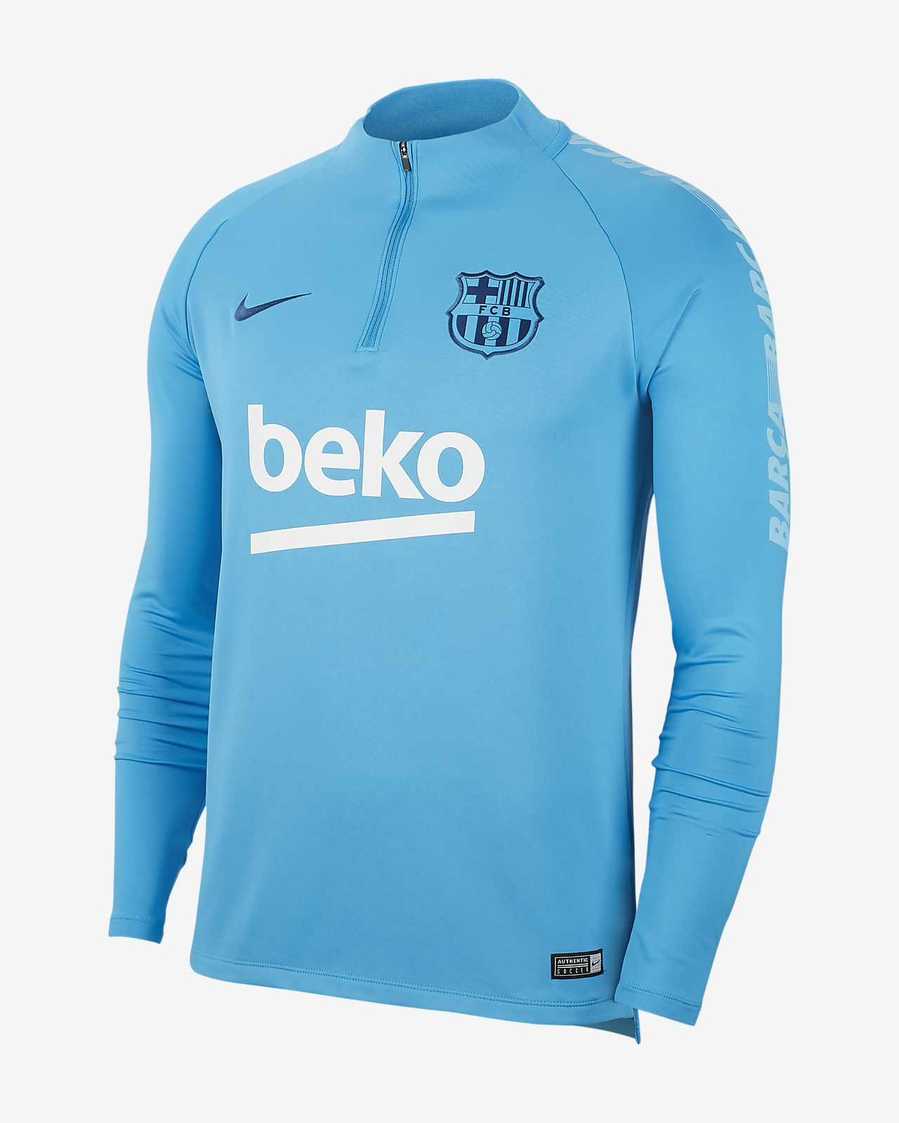 FC Barcelona Dri-FIT Squad Drill Men s Long Sleeve Soccer Top. Nike.com 4bbad20bc