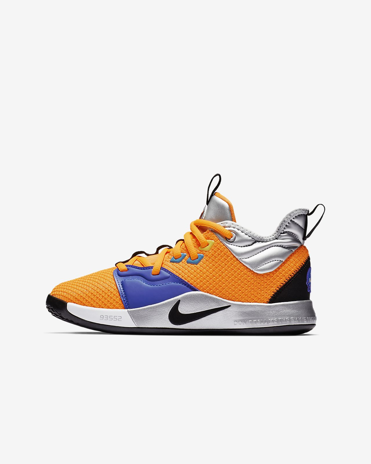 PG 3 NASA Big Kids' Basketball Shoe