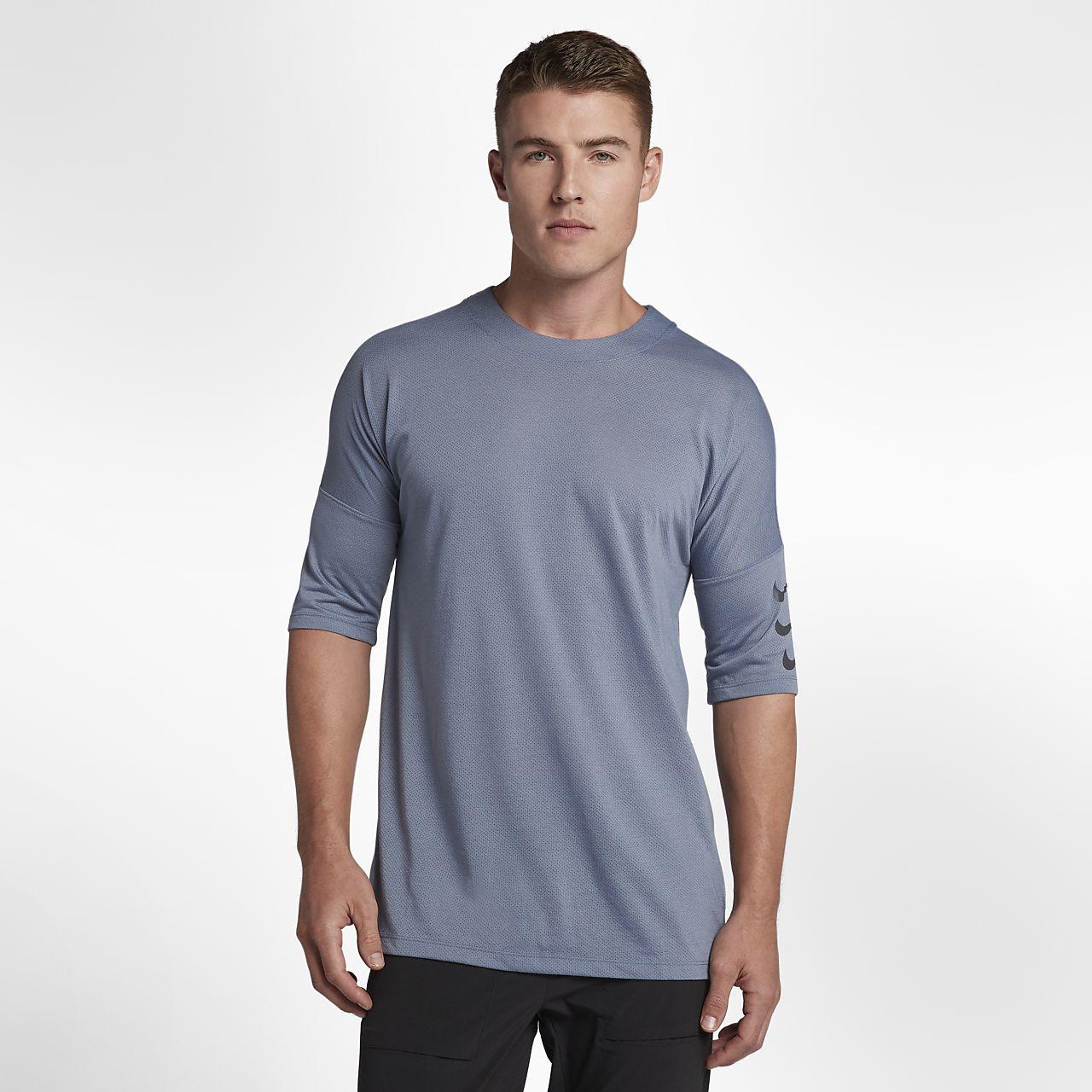 Nike Rise 365 男款五分袖跑步上衣