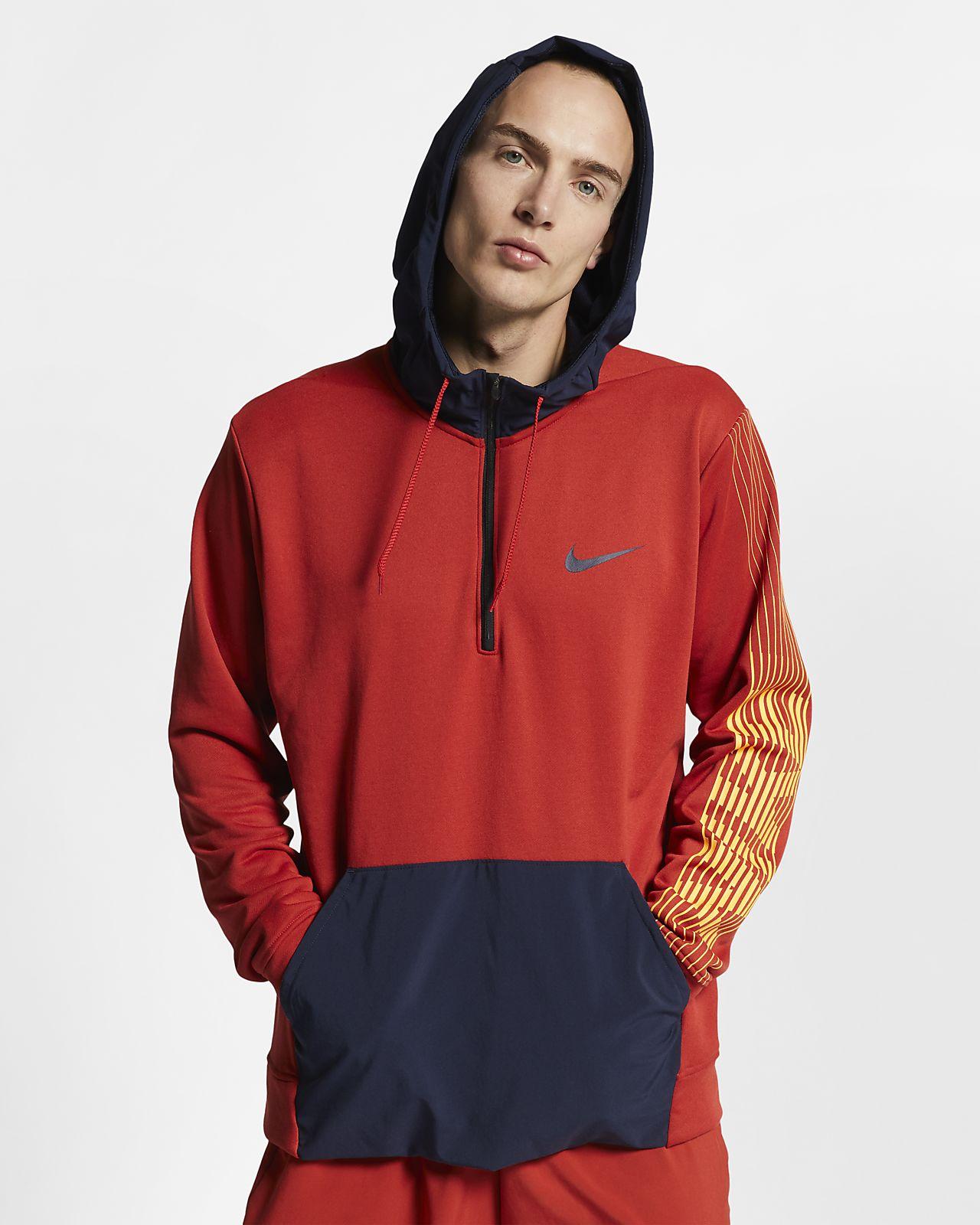 Träningshuvtröja i fleece Nike Dri-FIT för män