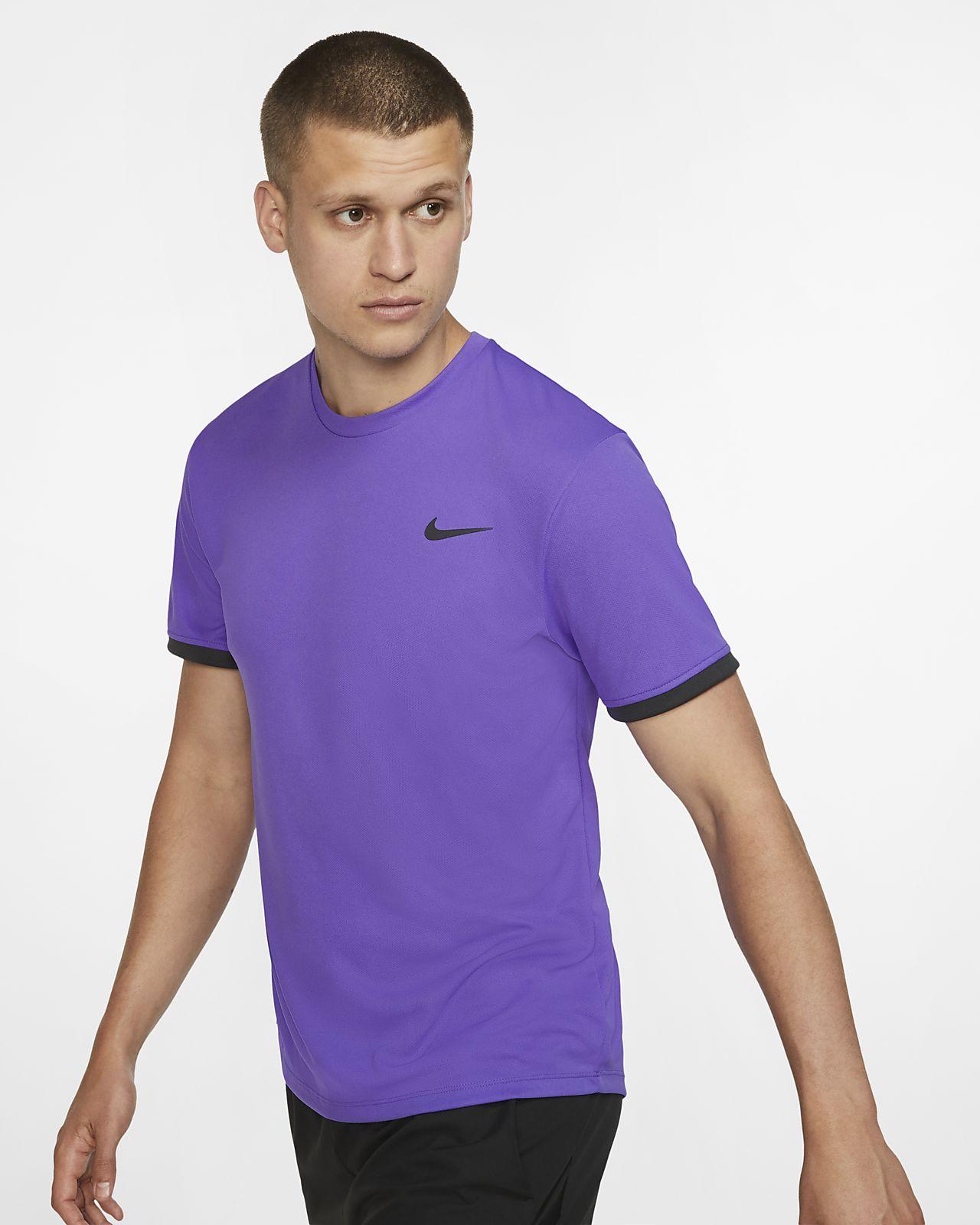 NikeCourt Dri-FIT Kısa Kollu Erkek Tenis Üstü