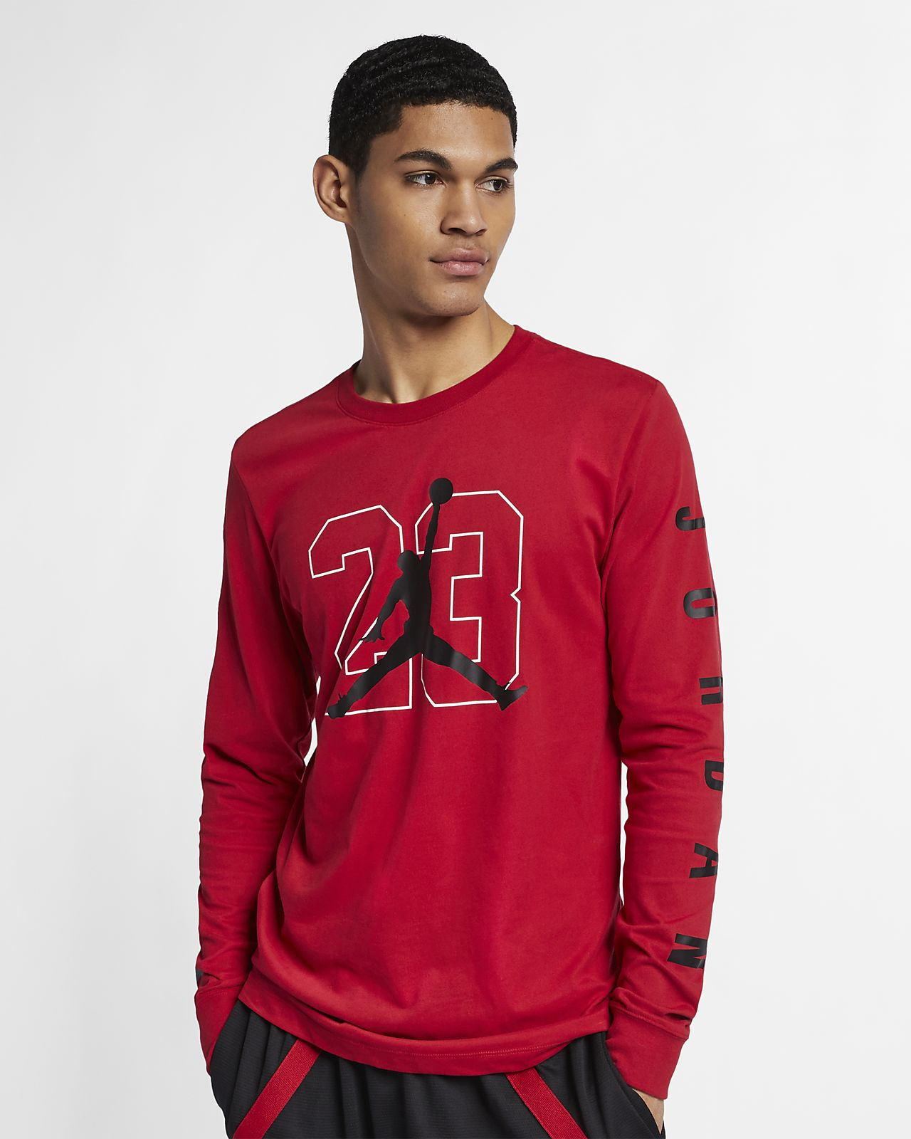 caa62dc22a66 Jordan Men s Graphic Long-Sleeve Basketball T-Shirt. Nike.com