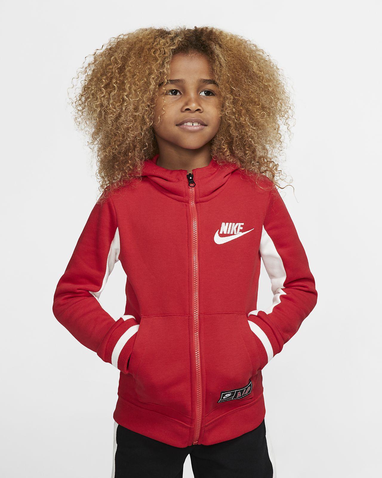 Nike Air 幼童全长拉链开襟起绒连帽衫