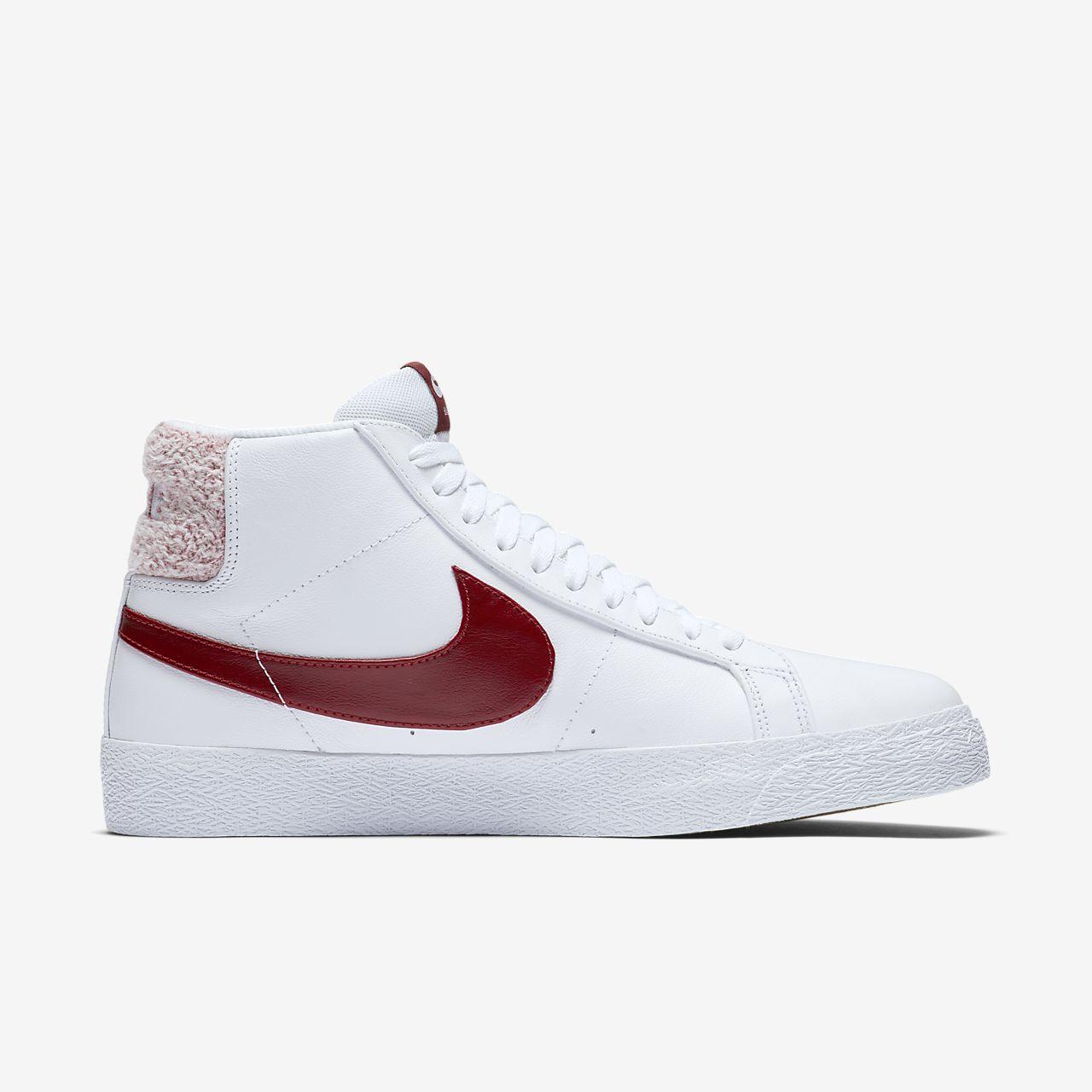 Baskets montantes blazer en cuir Nike Blanc taille 43 EU en
