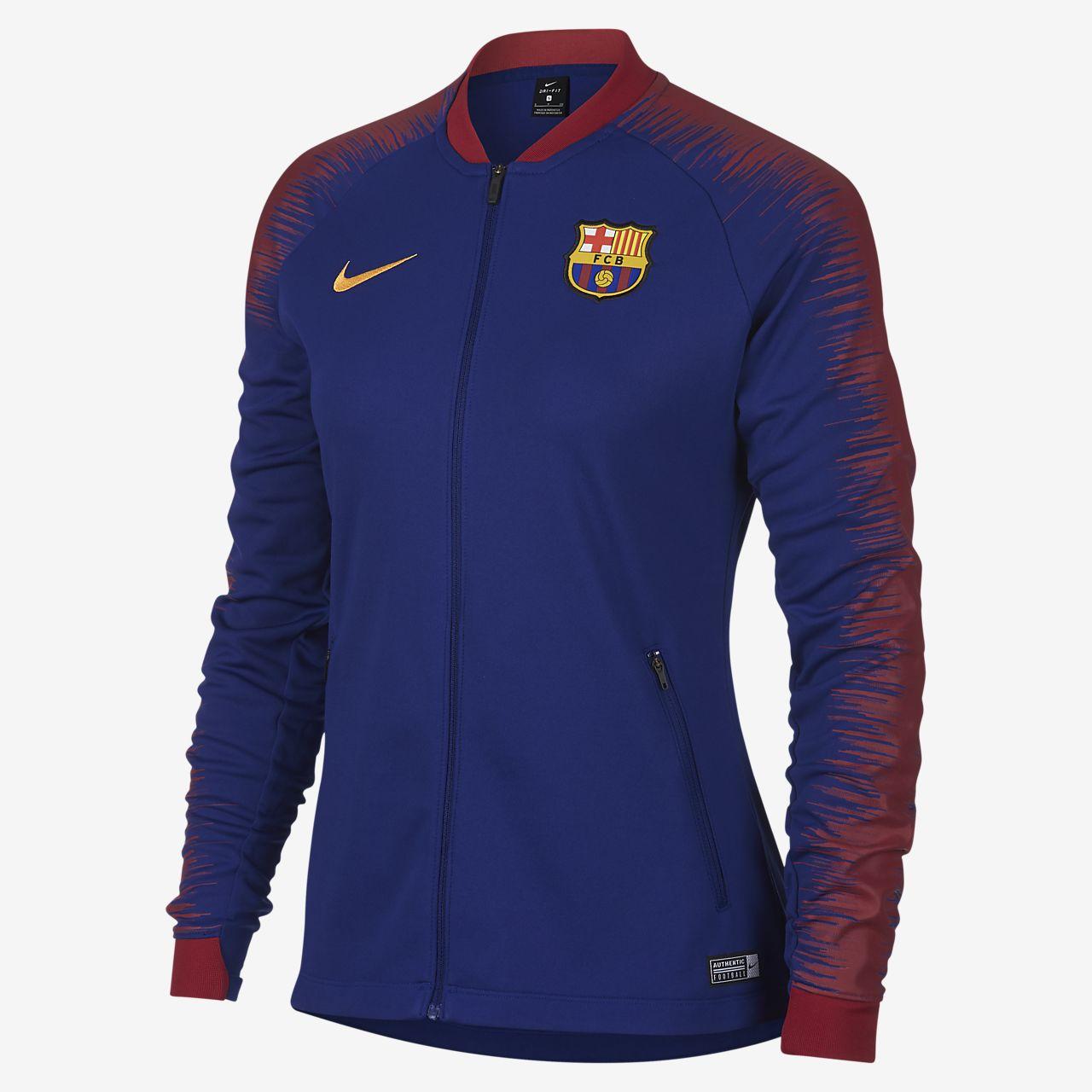 Fotbollsjacka FC Barcelona Anthem för kvinnor