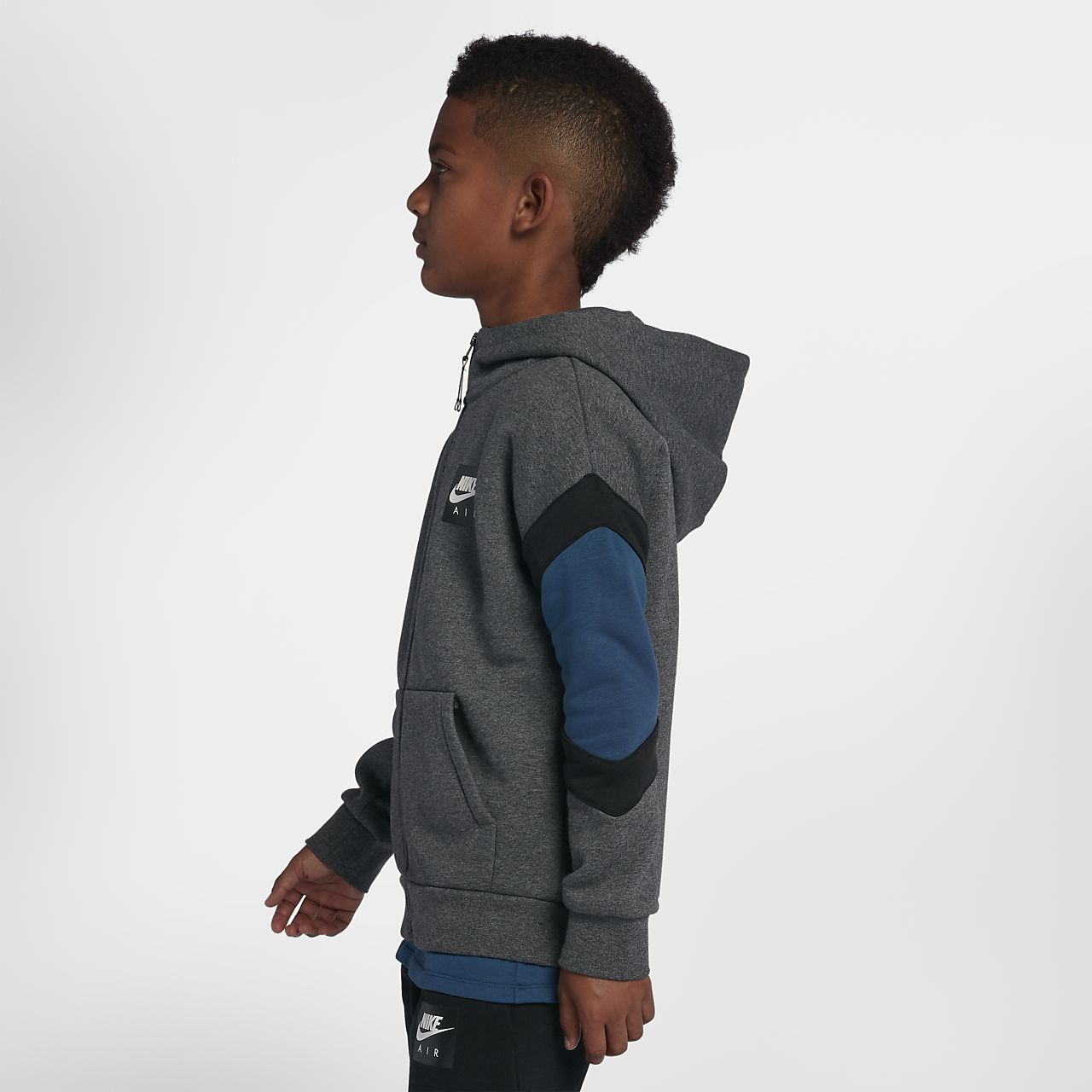 d4c55b55496f Nike Air Older Kids  (Boys ) Full-Zip Hoodie. Nike.com GB