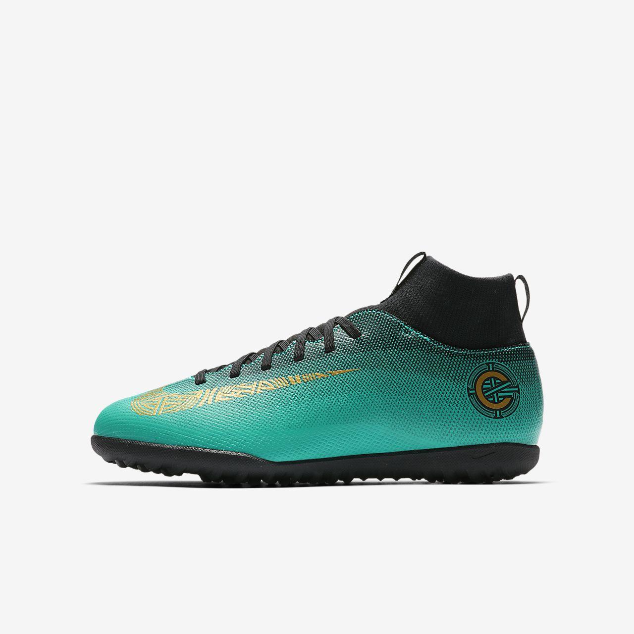 83950e13a731 Nike Jr. MercurialX Superfly VI Club CR7 TF Younger/Older Kids' Turf ...