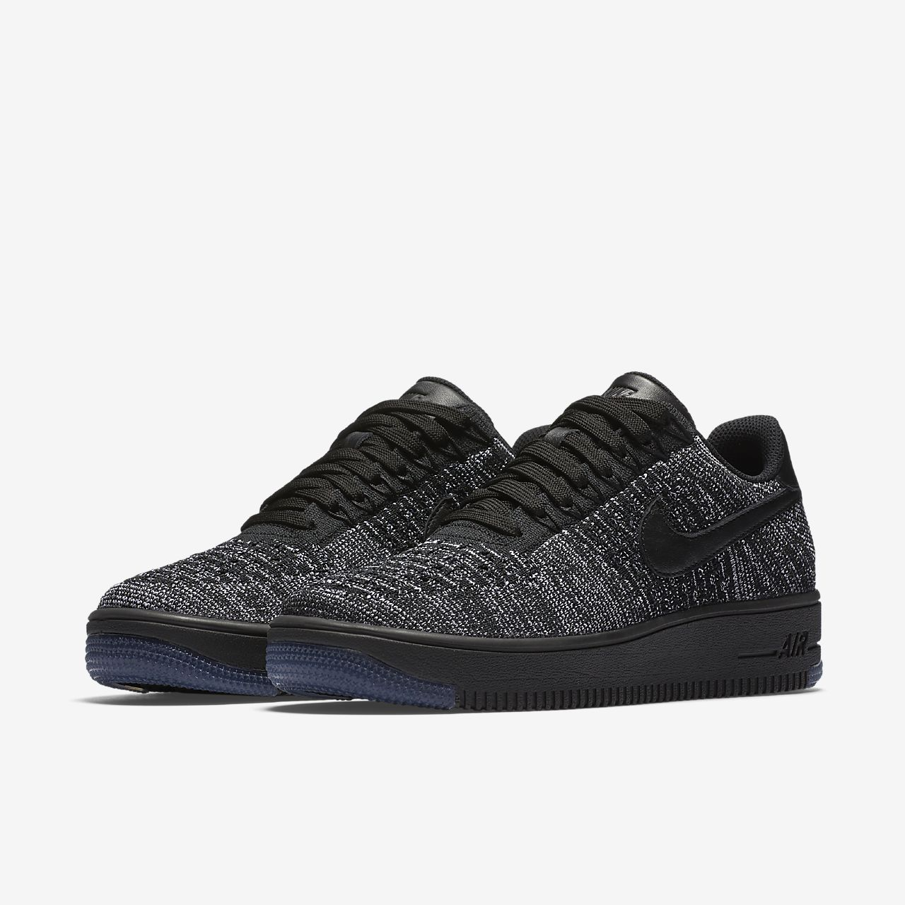 nike air force 1 flyknit black&white