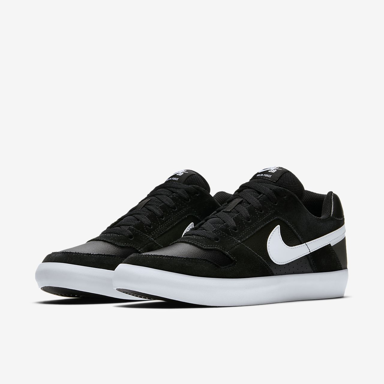 Nike SB Delta Force Vulc Men's Skateboarding Shoes Black/Grey jR3387Y