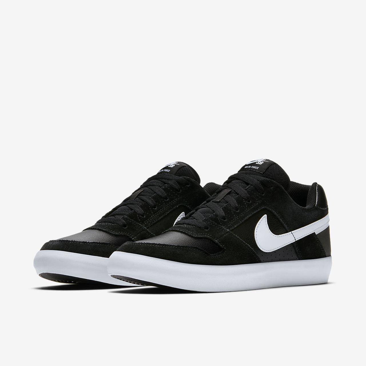 Nike SB Delta Force Vulc Men's Skateboarding Shoes Black/White rQ3917A