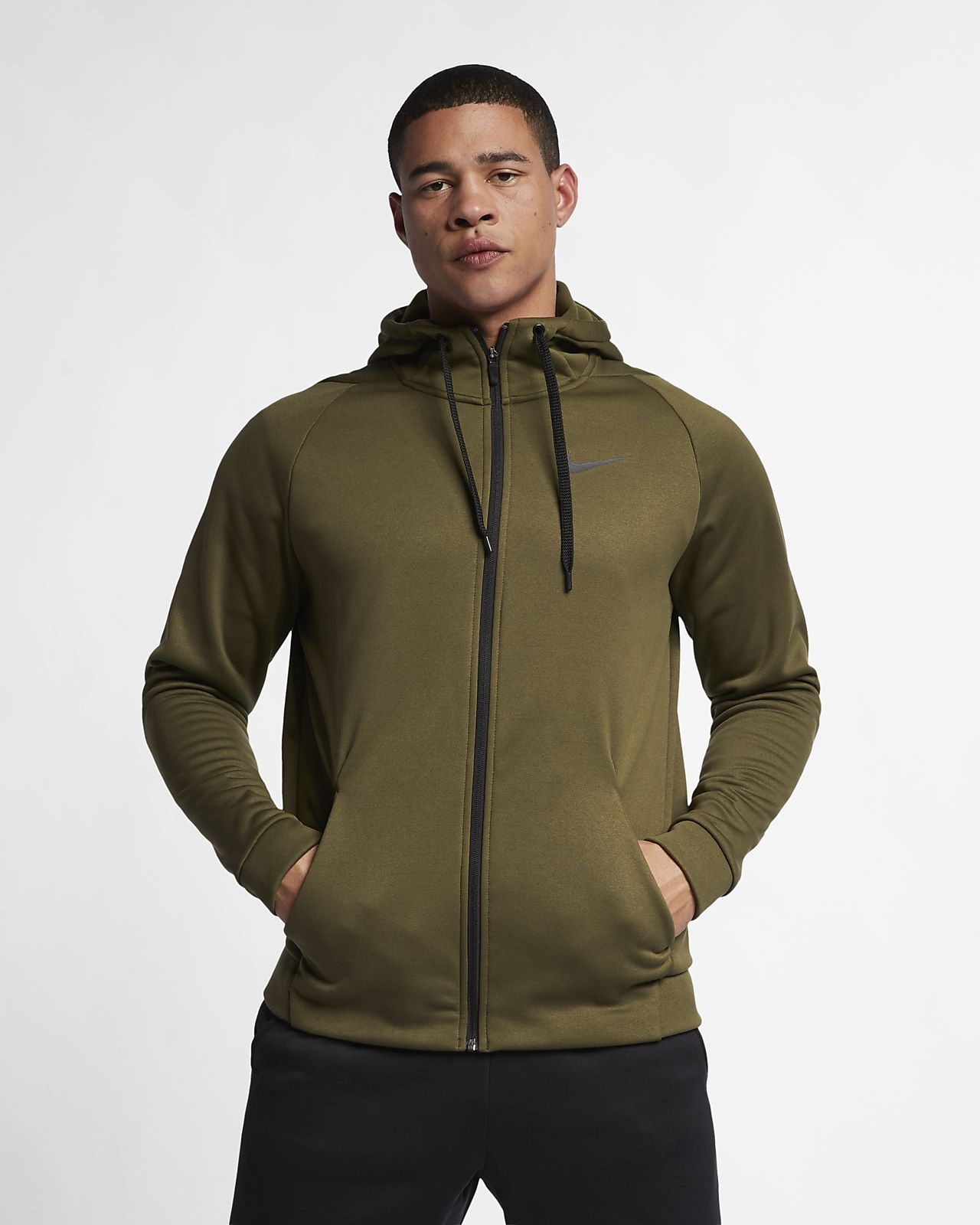 25acc363 Nike Dri-FIT Therma Men's Full-Zip Training Hoodie. Nike.com AT