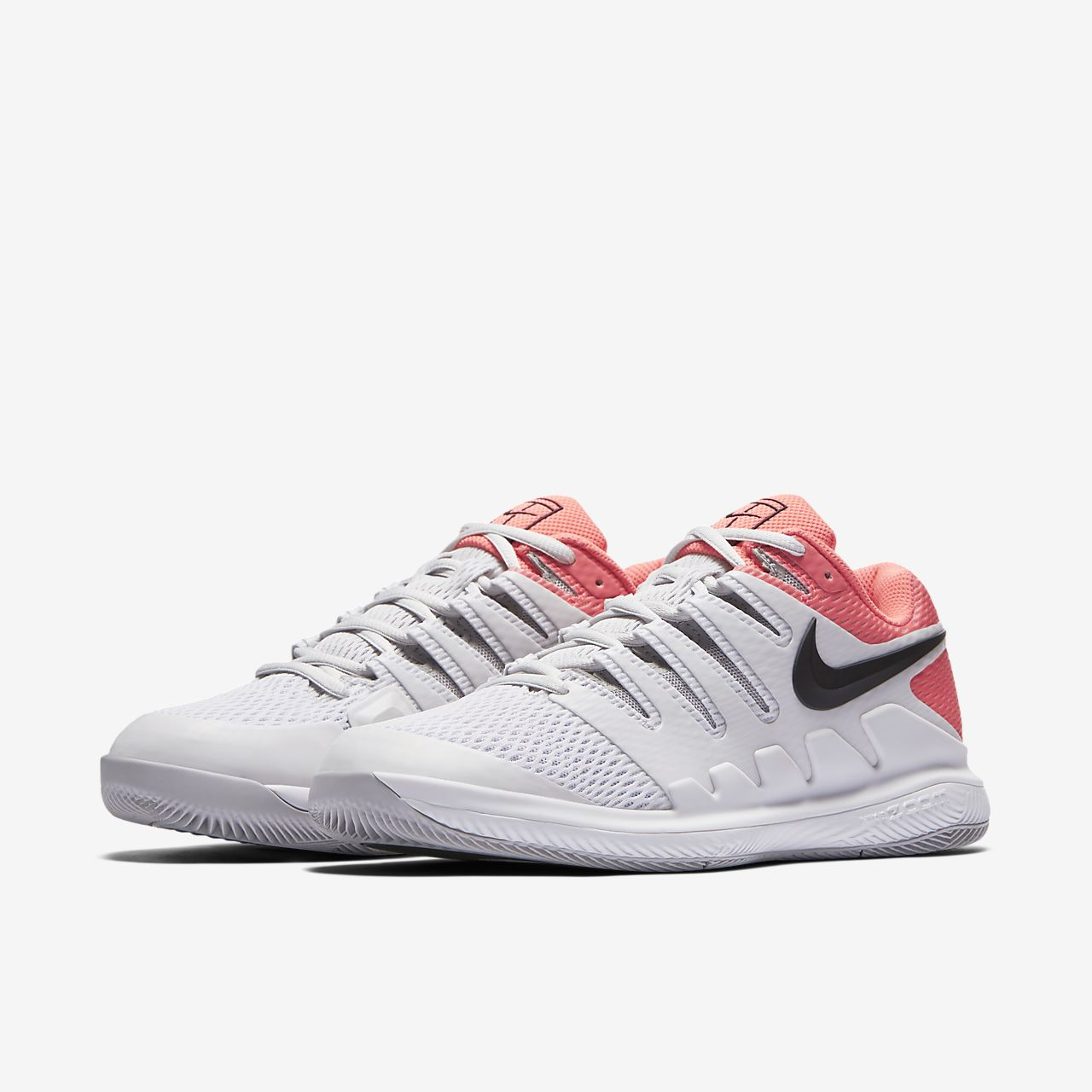 low priced e874e 1895c Nike Air Zoom Vapor X HC - White - Tennis Scanner