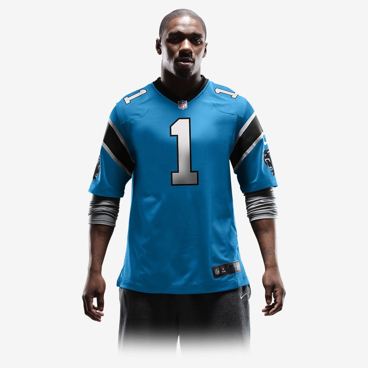 quality design bf64c 96e4d NFL Carolina Panthers (Cam Newton) Men's Game Football Jersey