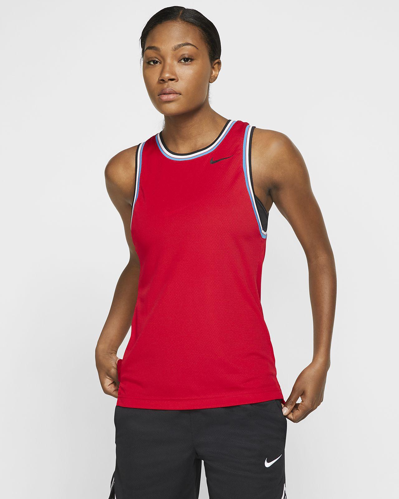 Ærmeløs Nike Dri-FIT-basketballoverdel til kvinder