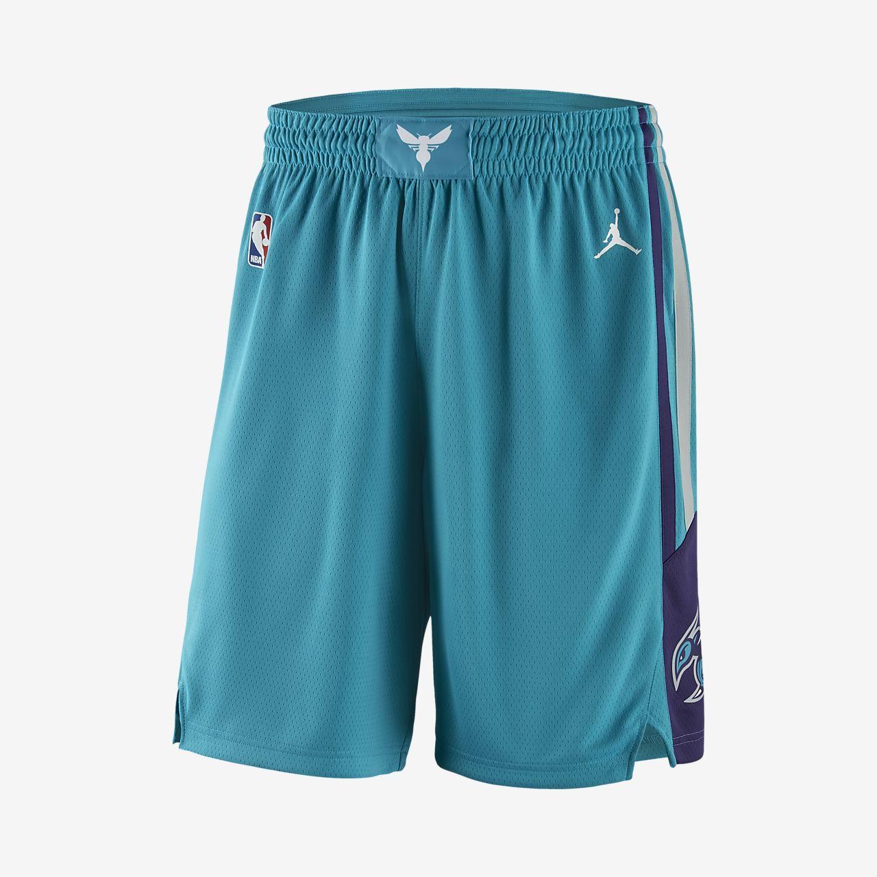 Short de NBA Charlotte Hornets Jordan Icon Edition Swingman pour Homme