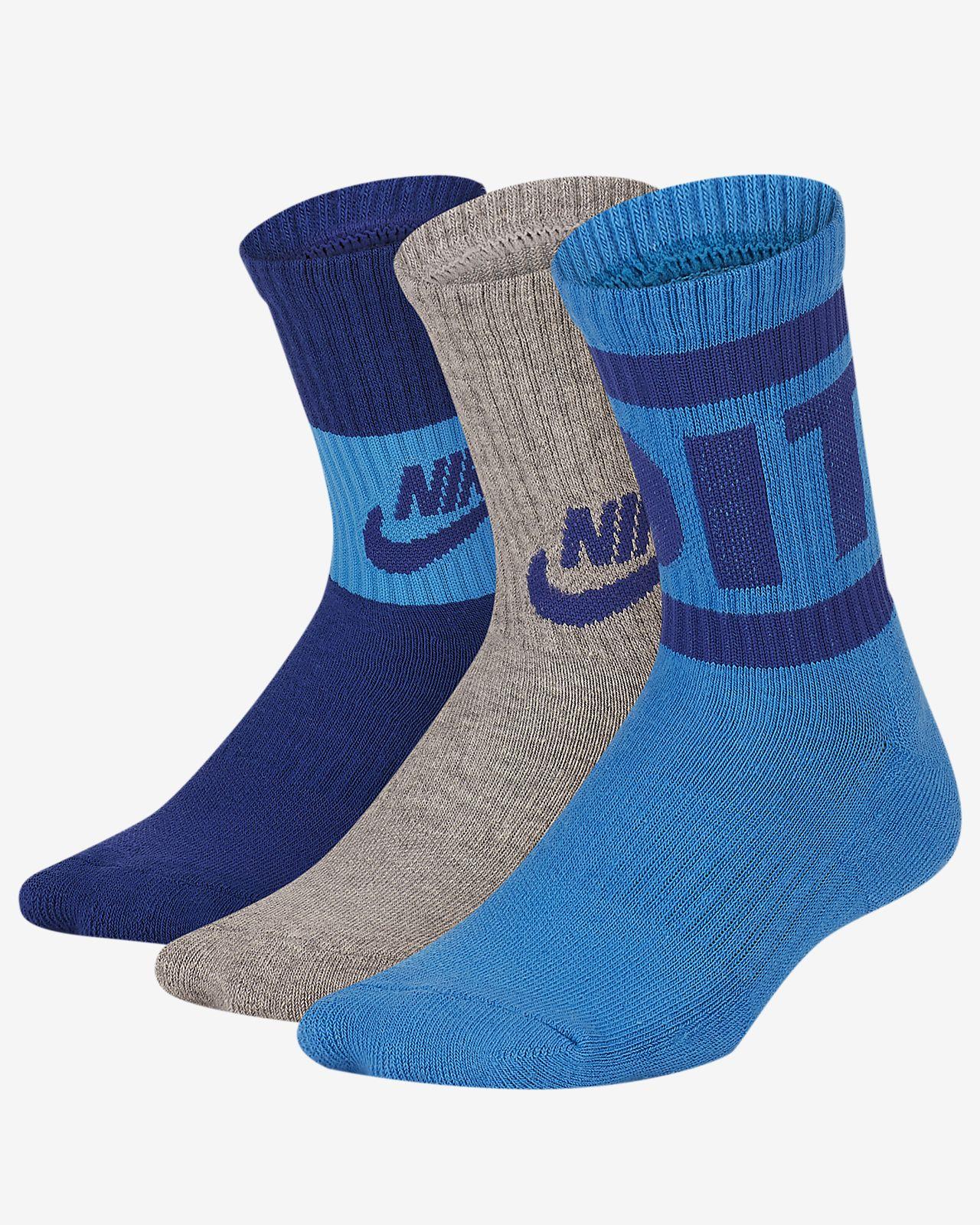 promo code 048eb efb32 Nike Little Kids  JDI Cushioned Crew Socks (3 Pairs). Nike.com