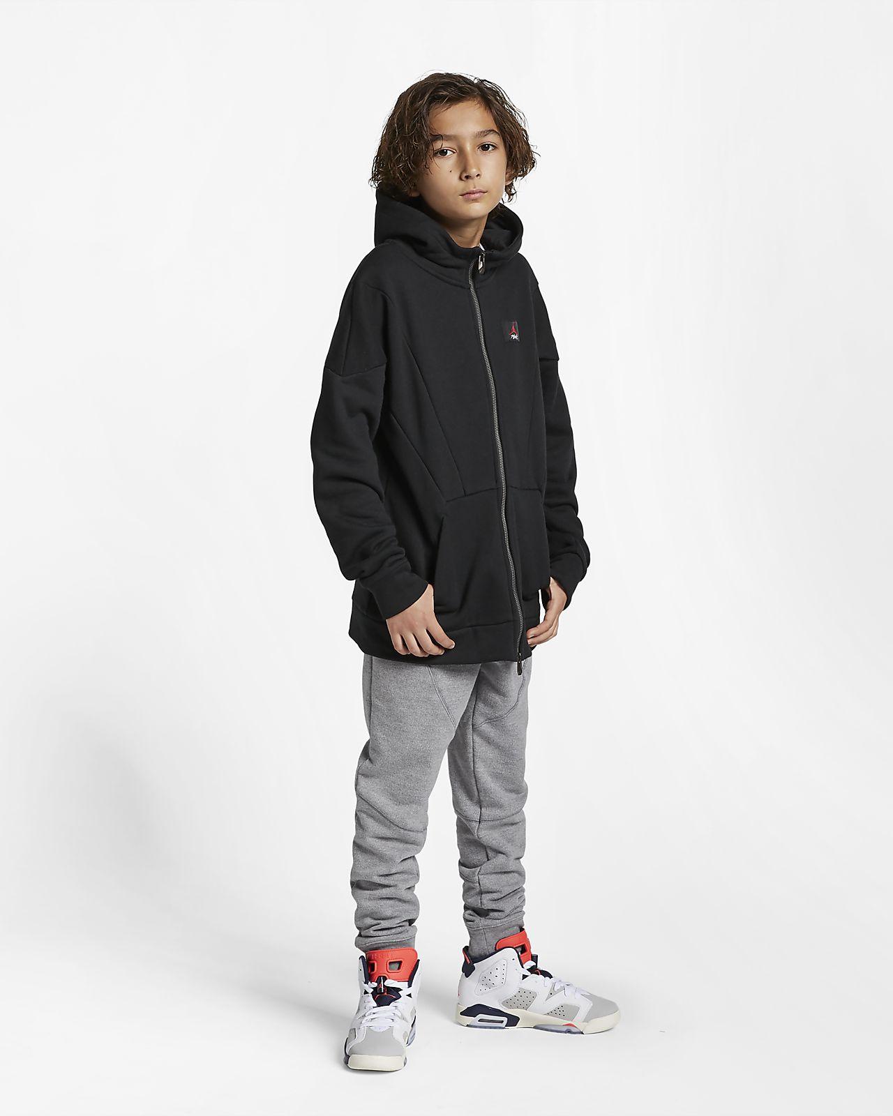 c62f37af051a Jordan Flight Lite Big Kids  (Boys ) Full-Zip Hoodie. Nike.com