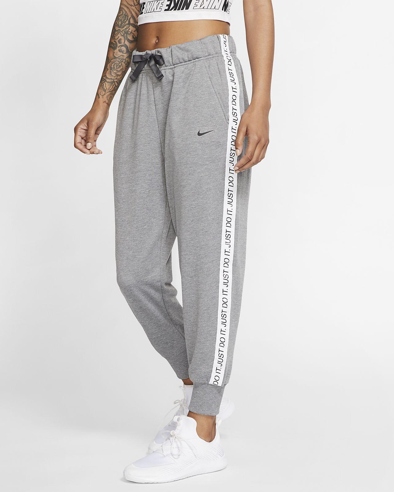 Damskie spodnie treningowe z dzianiny 7/8 Nike Dri-FIT Get Fit