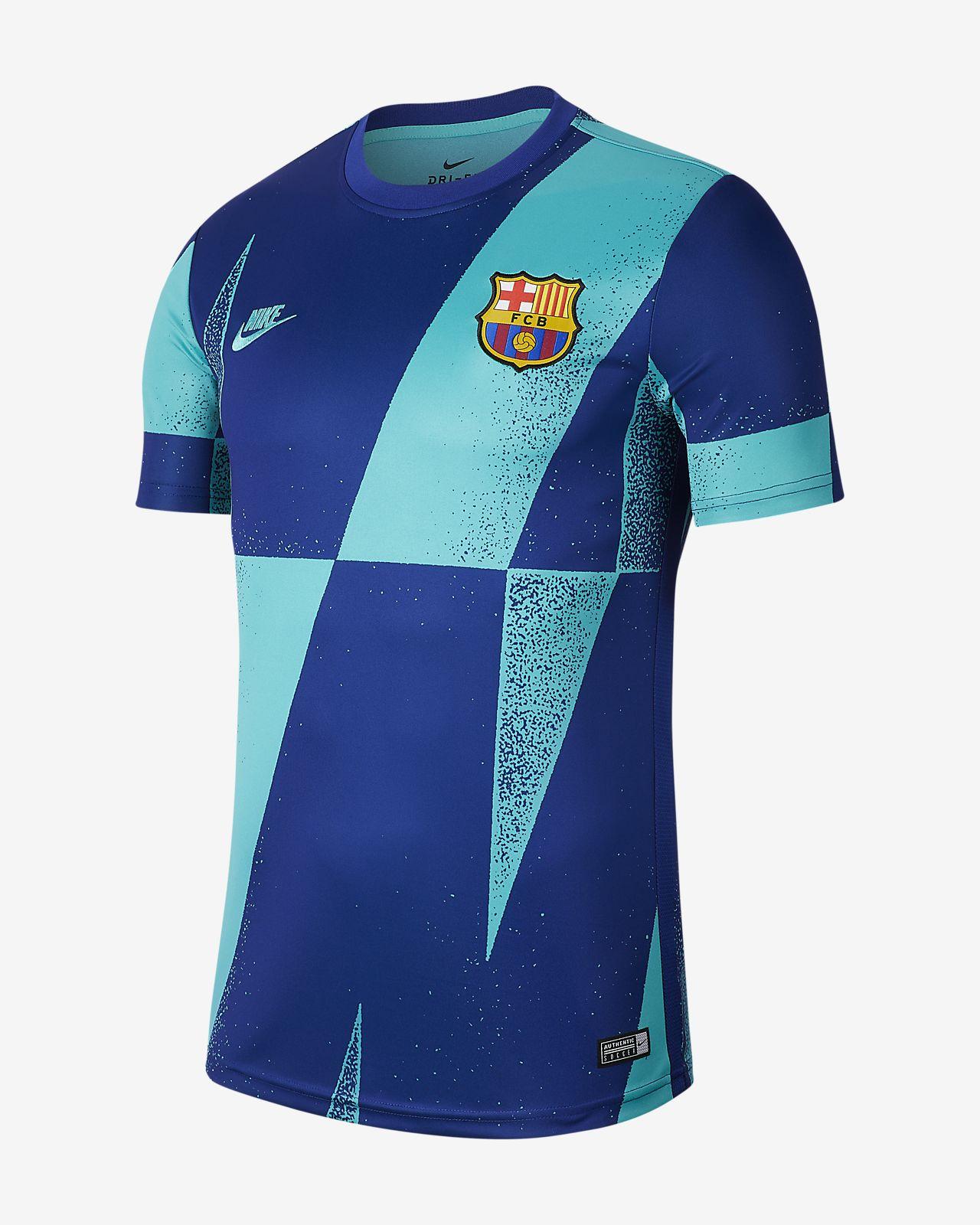 Haut de football à manches courtes FC Barcelona pour Homme