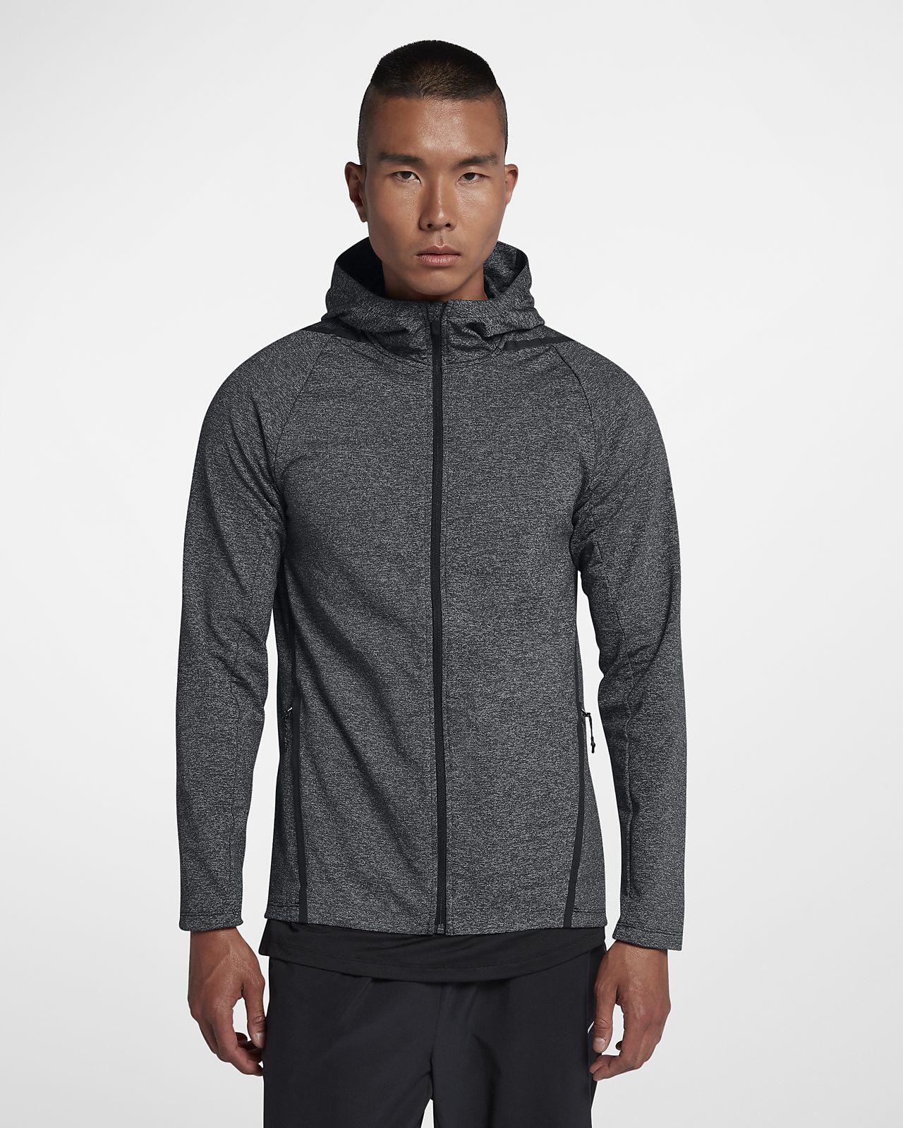 Nike Dri-FIT - langærmet træningshættetrøje med lynlås til mænd