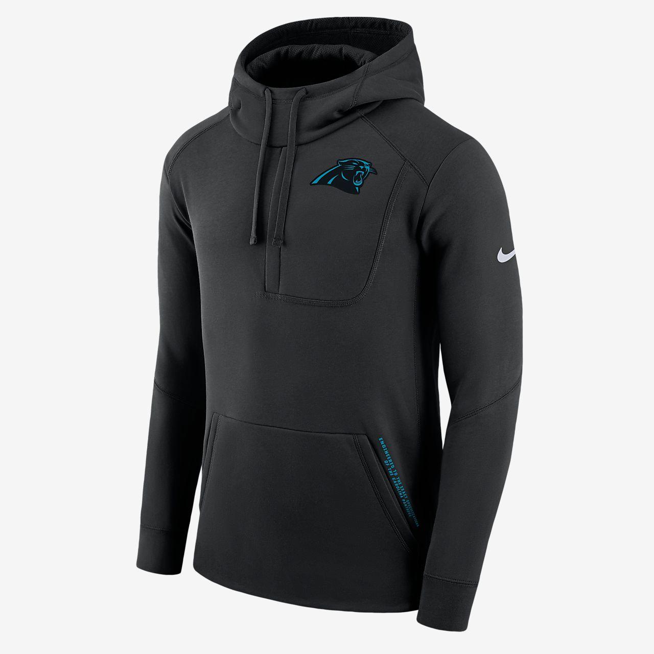 Ανδρική μπλούζα με κουκούλα Nike Fly Fleece (NFL Panthers)