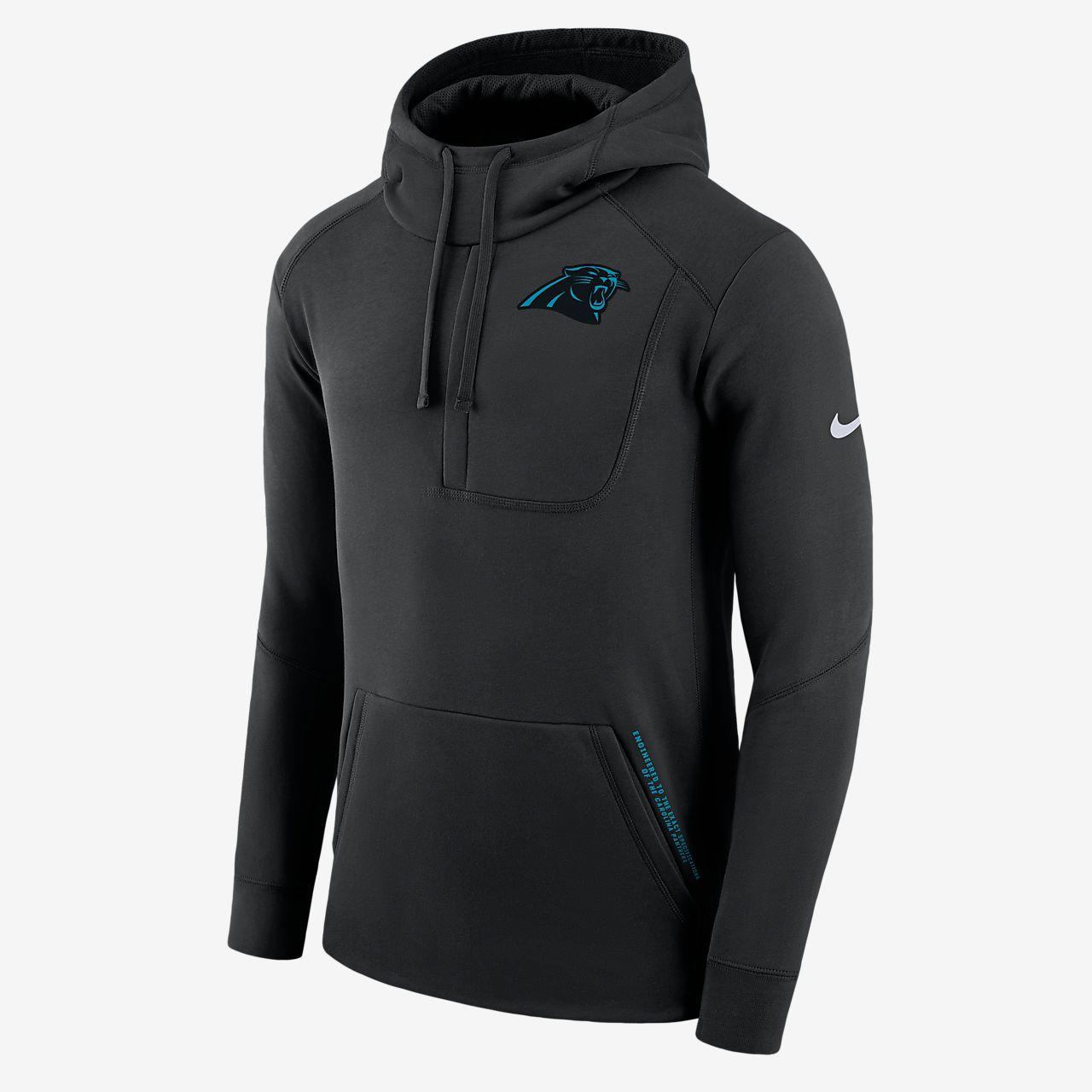 Męska bluza z kapturem Nike Fly Fleece (NFL Panthers)