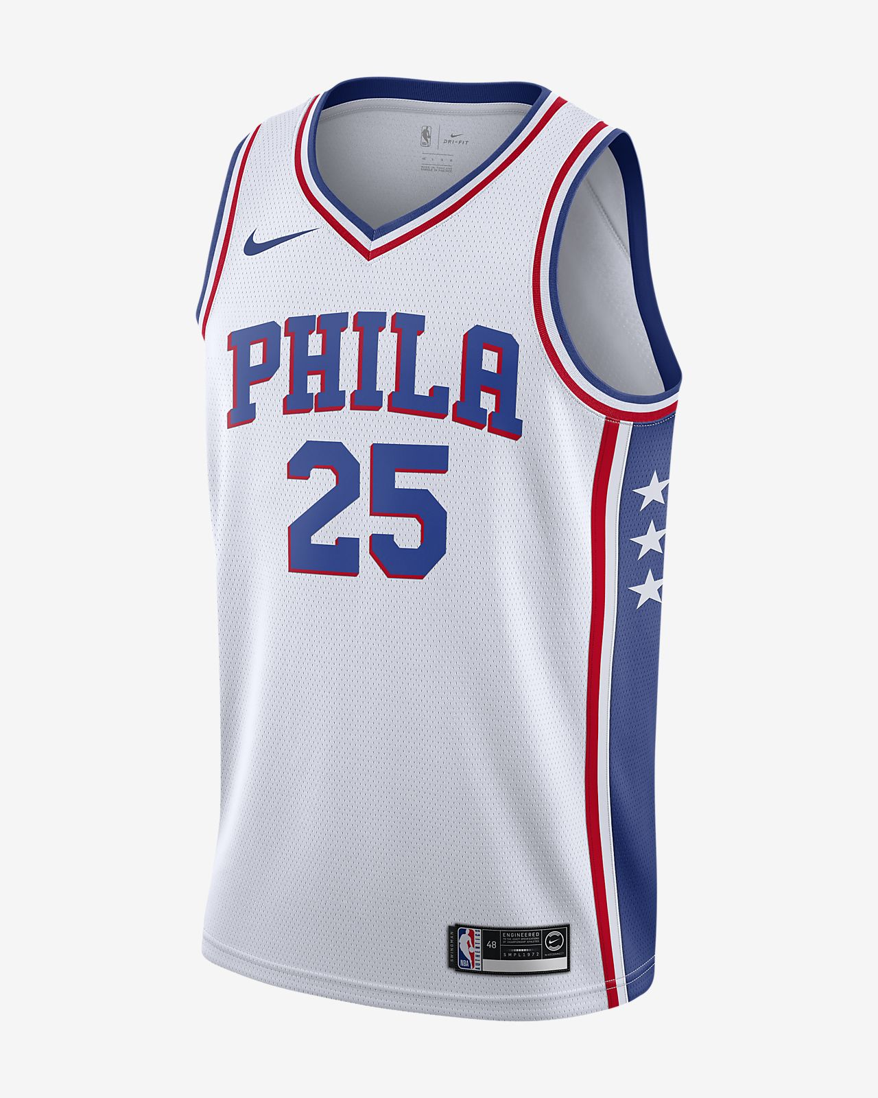 Ben Simmons 76ers Association Edition Nike NBA Swingman Trikot