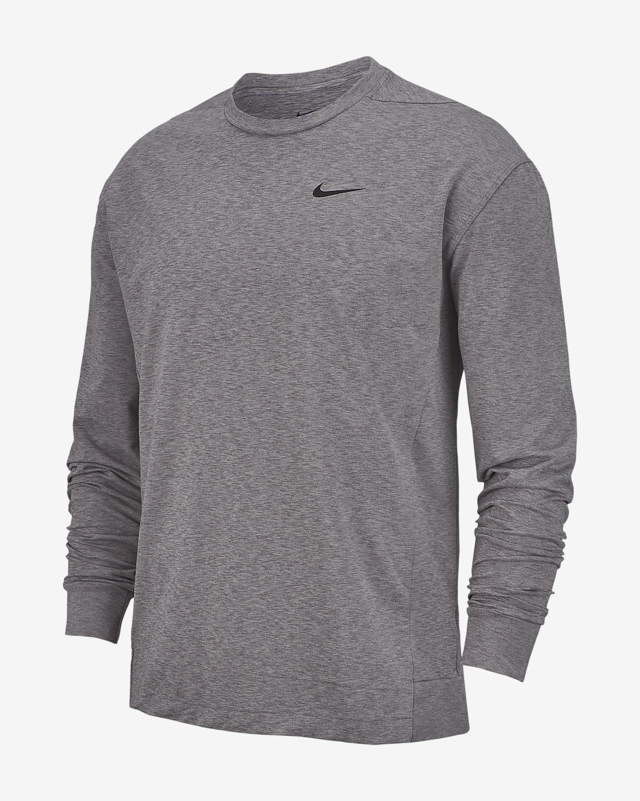 Nike Dri FIT Langarm Yoga Trainingsoberteil für Herren