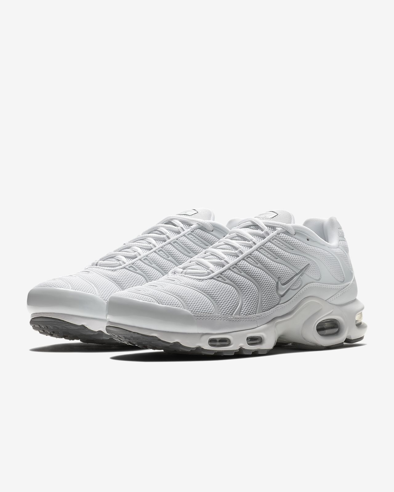 svart hvit nike air max pluss