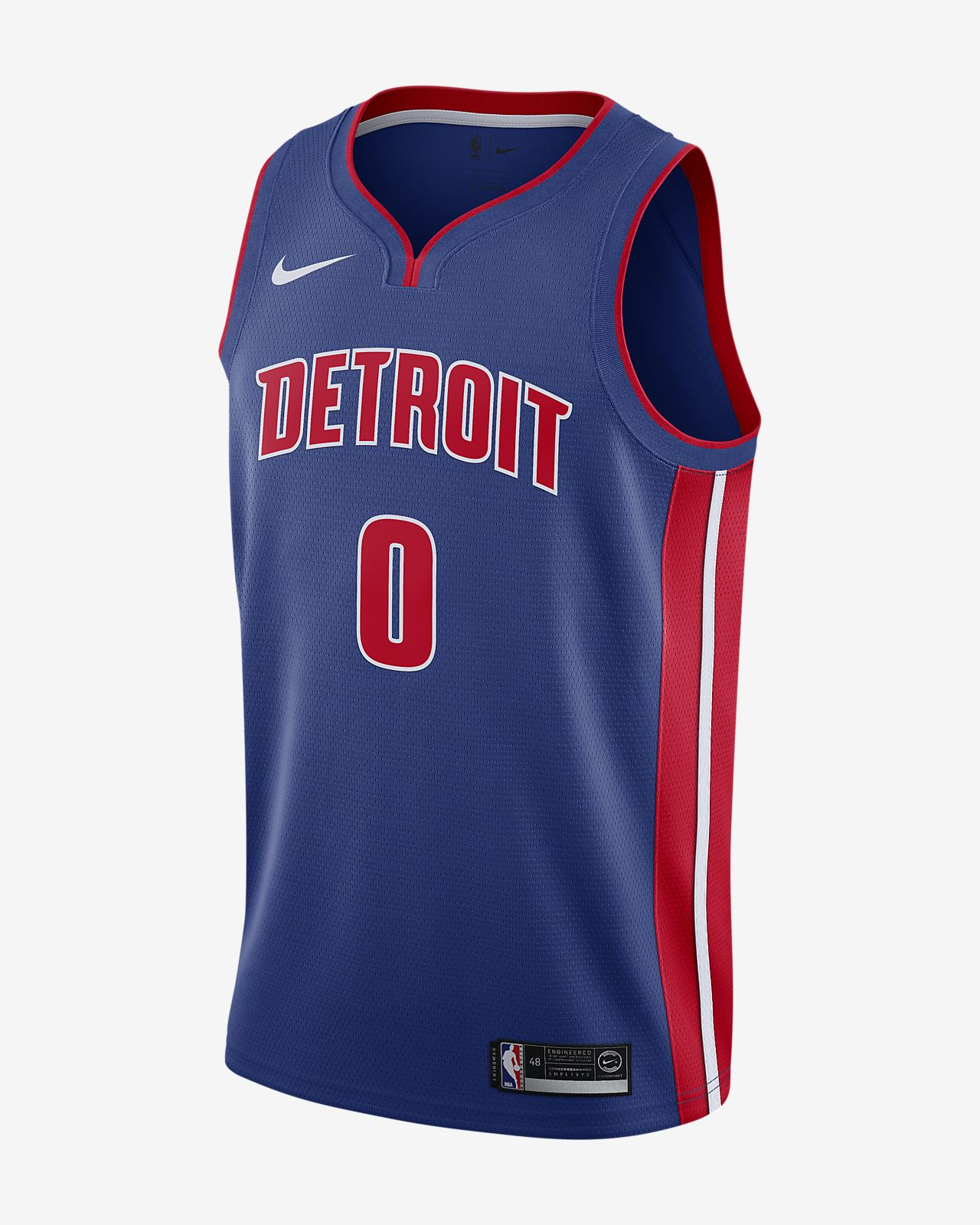 Andre Drummond Icon Edition Swingman (Detroit Pistons)-Nike NBA Connected-trøje til mænd