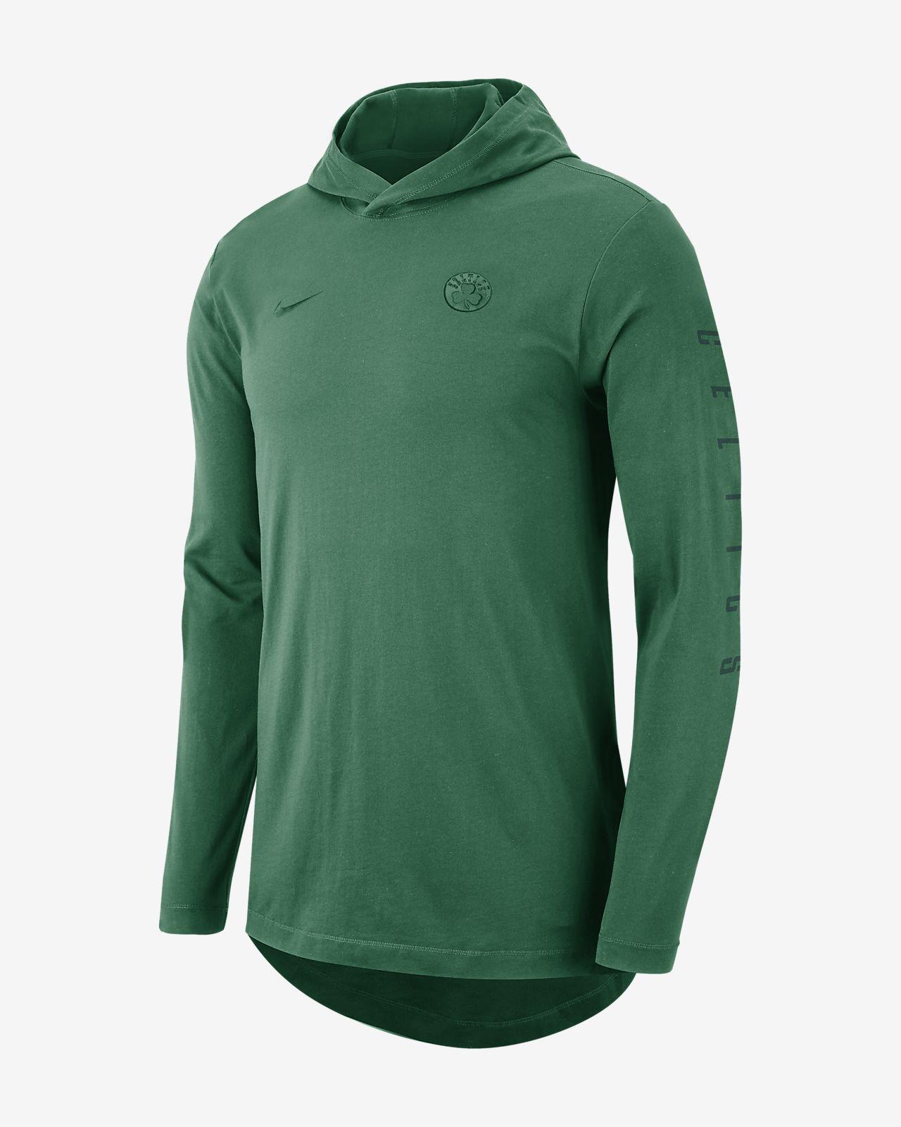 39d0d43f5acb8b Boston Celtics Nike Men s Hooded Long-Sleeve NBA T-Shirt. Nike.com