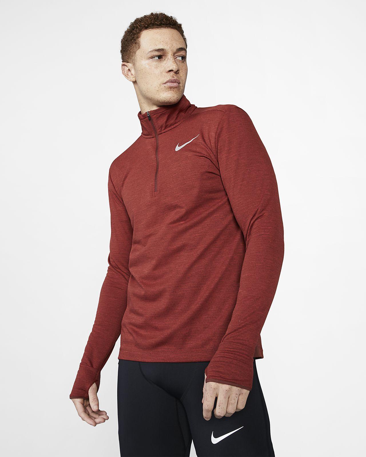 Ανδρική μπλούζα για τρέξιμο με φερμουάρ στο μισό μήκος Nike Therma Sphere