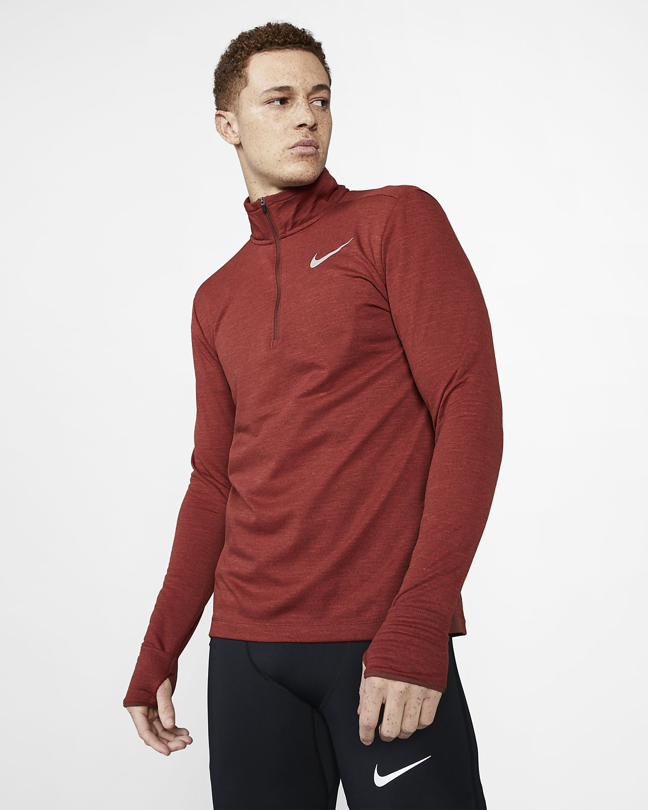 Top de running de medio cierre para hombre Nike Therma Sphere Element