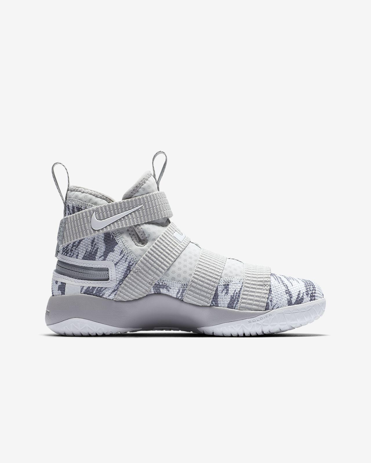 af5d69529c0 LeBron Soldier 11 FlyEase Big Kids  Basketball Shoe. Nike.com