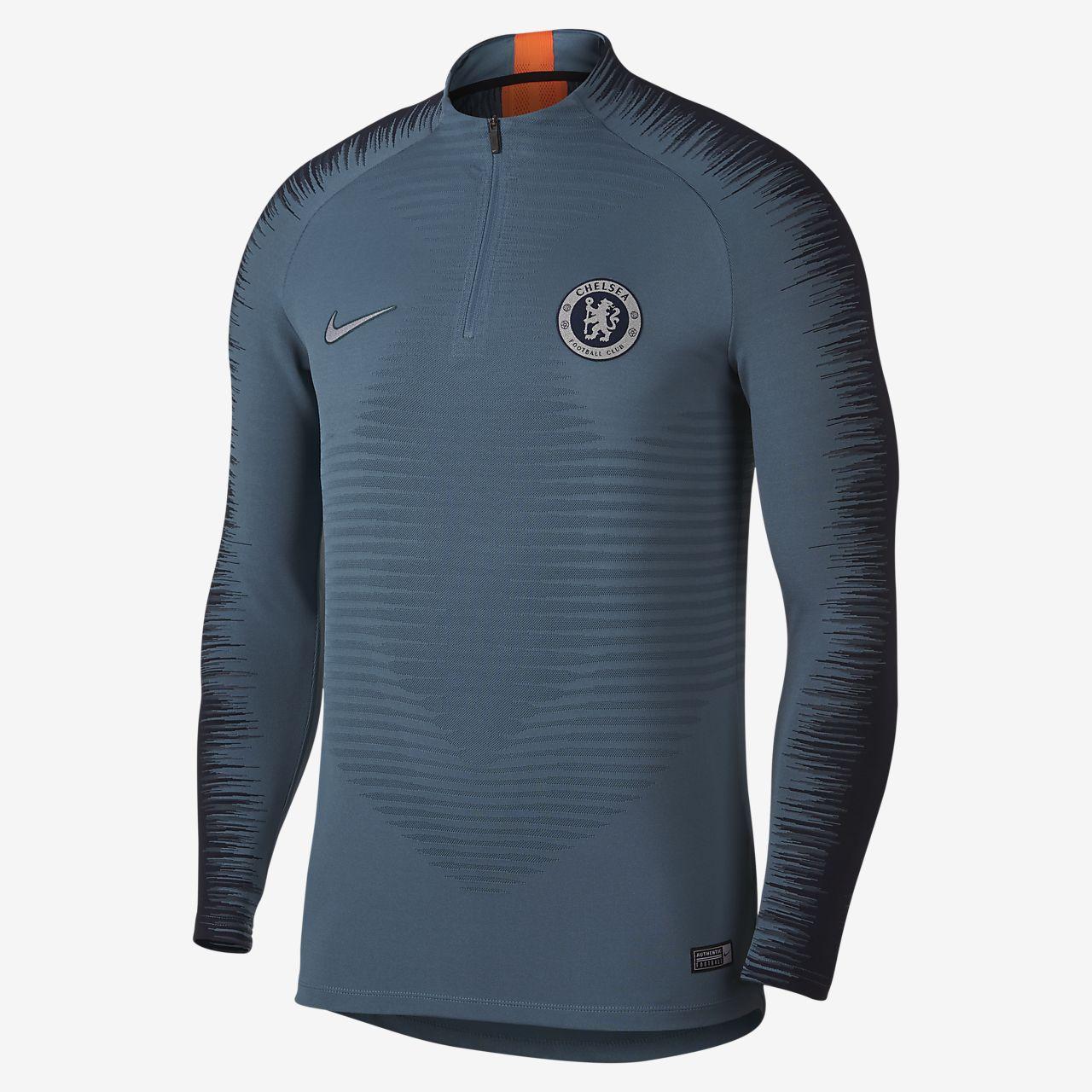 Camisola de futebol de manga comprida Chelsea FC VaporKnit Strike Drill para homem