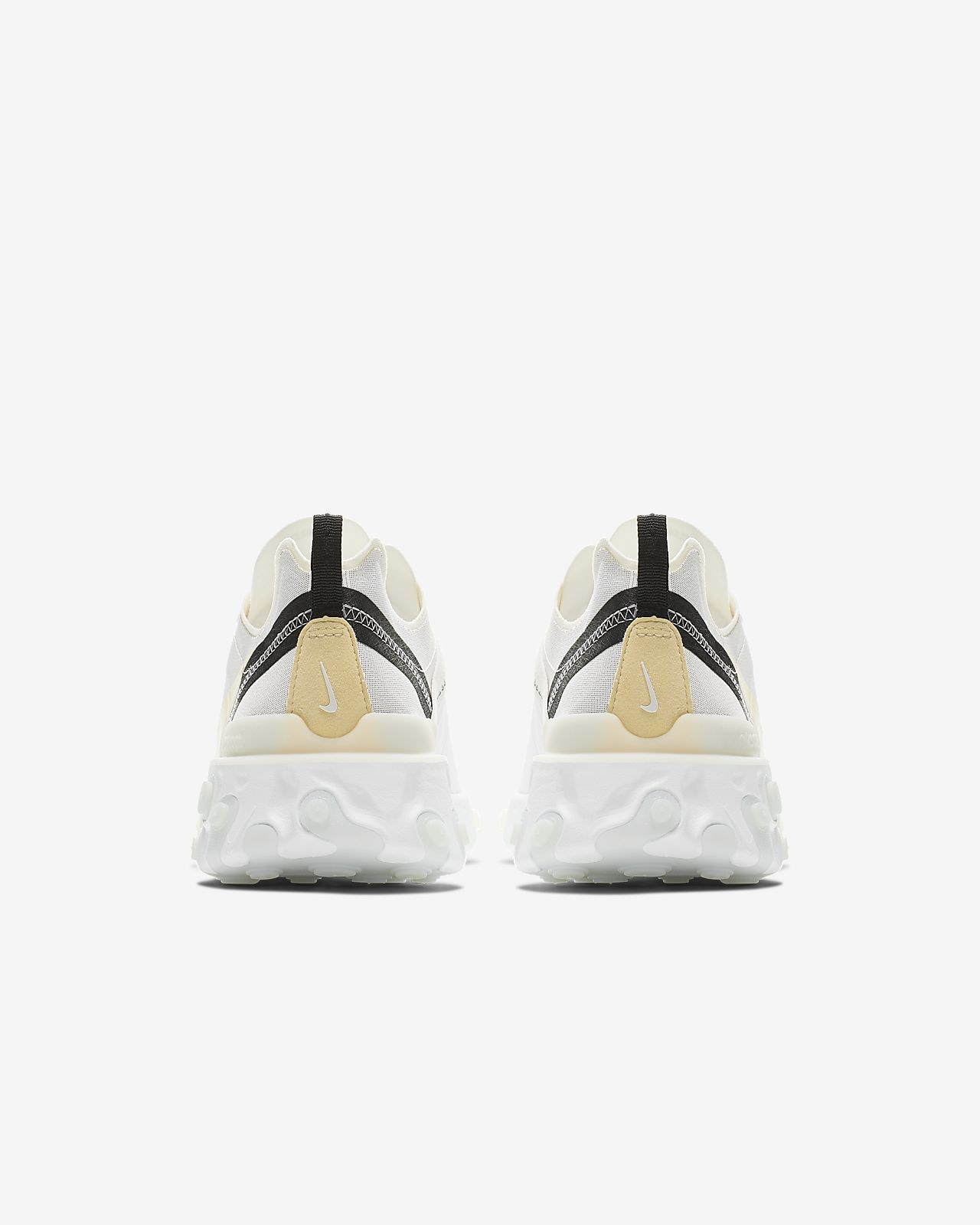 REACT 55 Sneaker low whitepale vanillablackpale ivory