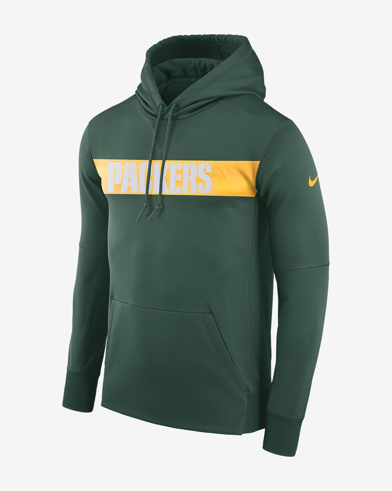 Ανδρική μπλούζα με κουκούλα Nike Dri-FIT Therma (NFL Packers)