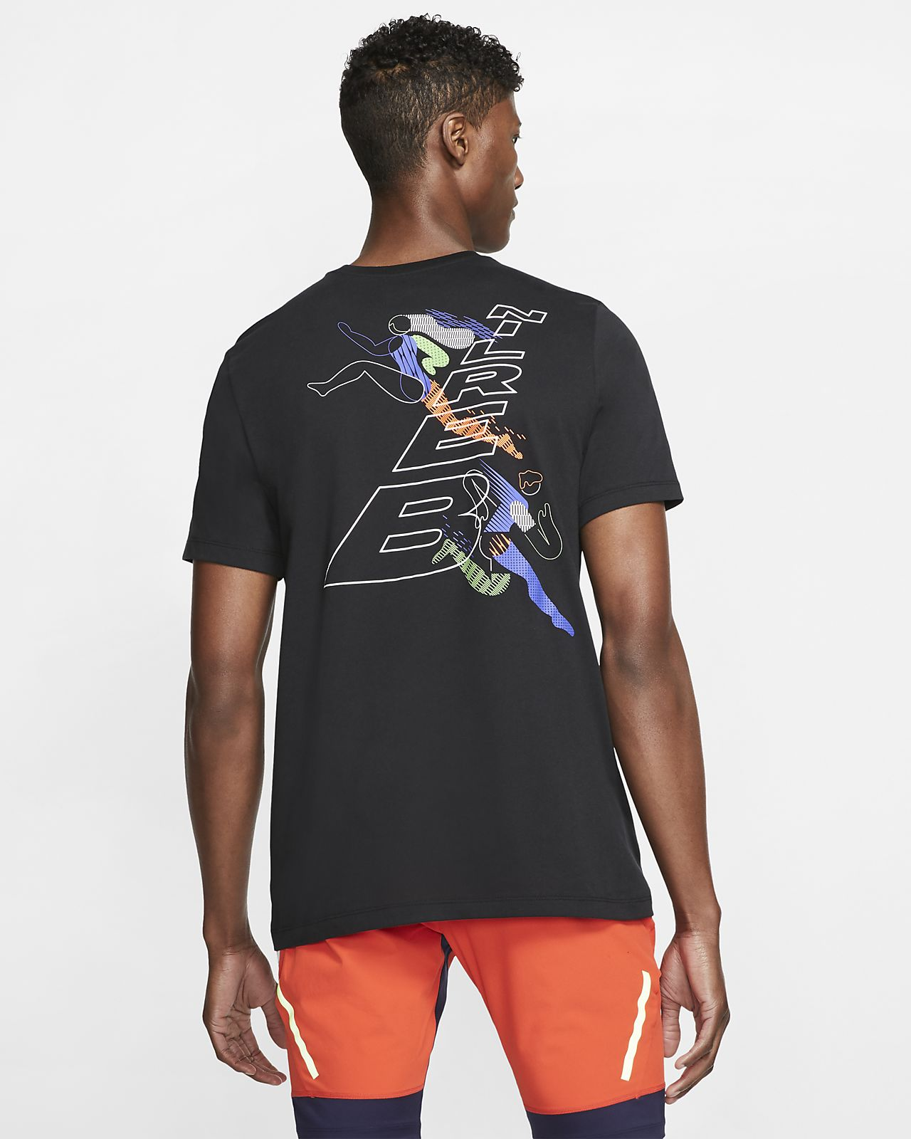 Nike Dri-FIT Berlin-løbe-T-shirt til mænd