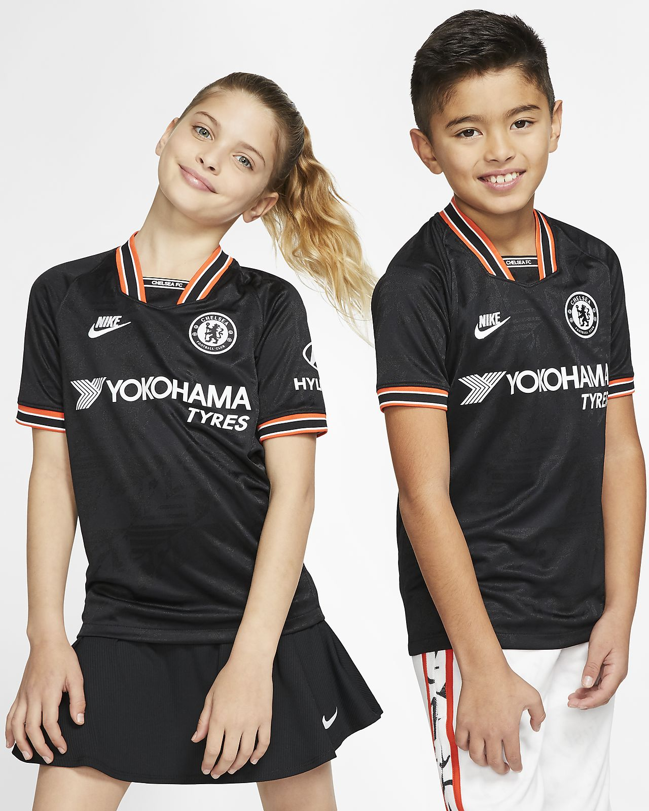 Chelsea FC 2019/20 Stadium Third Big Kids' Soccer Jersey
