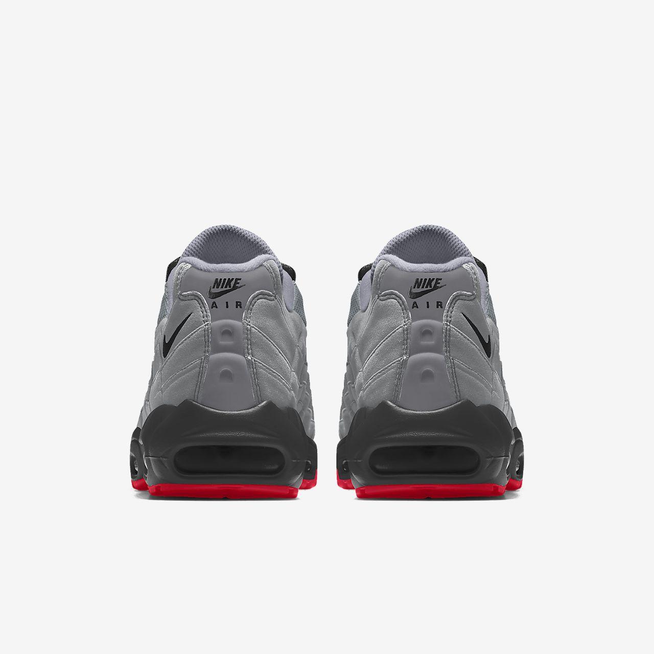 NIKE ID AIR Max 95 Triple Black Shoes 314350 997 Size Men's