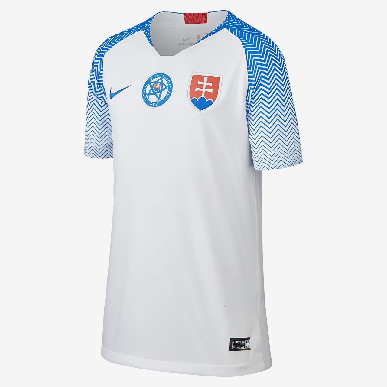 2018 Slowakei Stadium Home Fußballtrikot für ältere Kinder