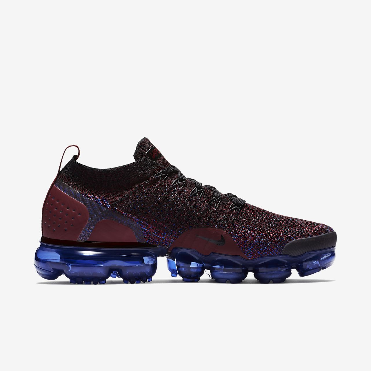 Nike Performance AIR VAPORMAX FLYKNIT 2 - Neutral running shoes - black/white/team red/racer blue/game royal 2rHa8