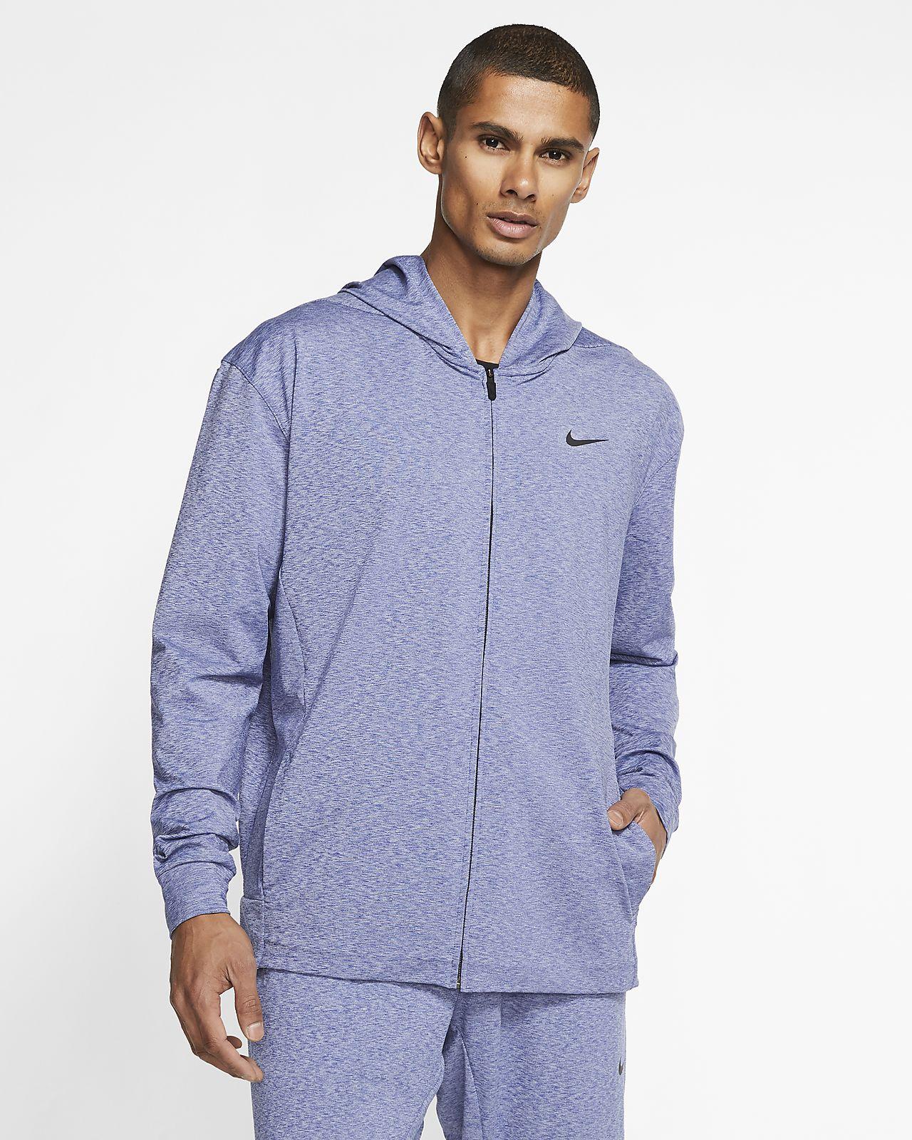 Sweat à capuche de yoga entièrement zippé Nike Dri FIT pour Homme